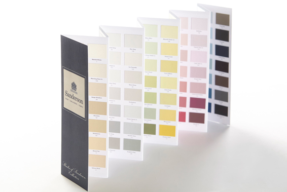 French For Pineapple Blog - Discovering Sanderson Paint - Sanderson Paint Chart