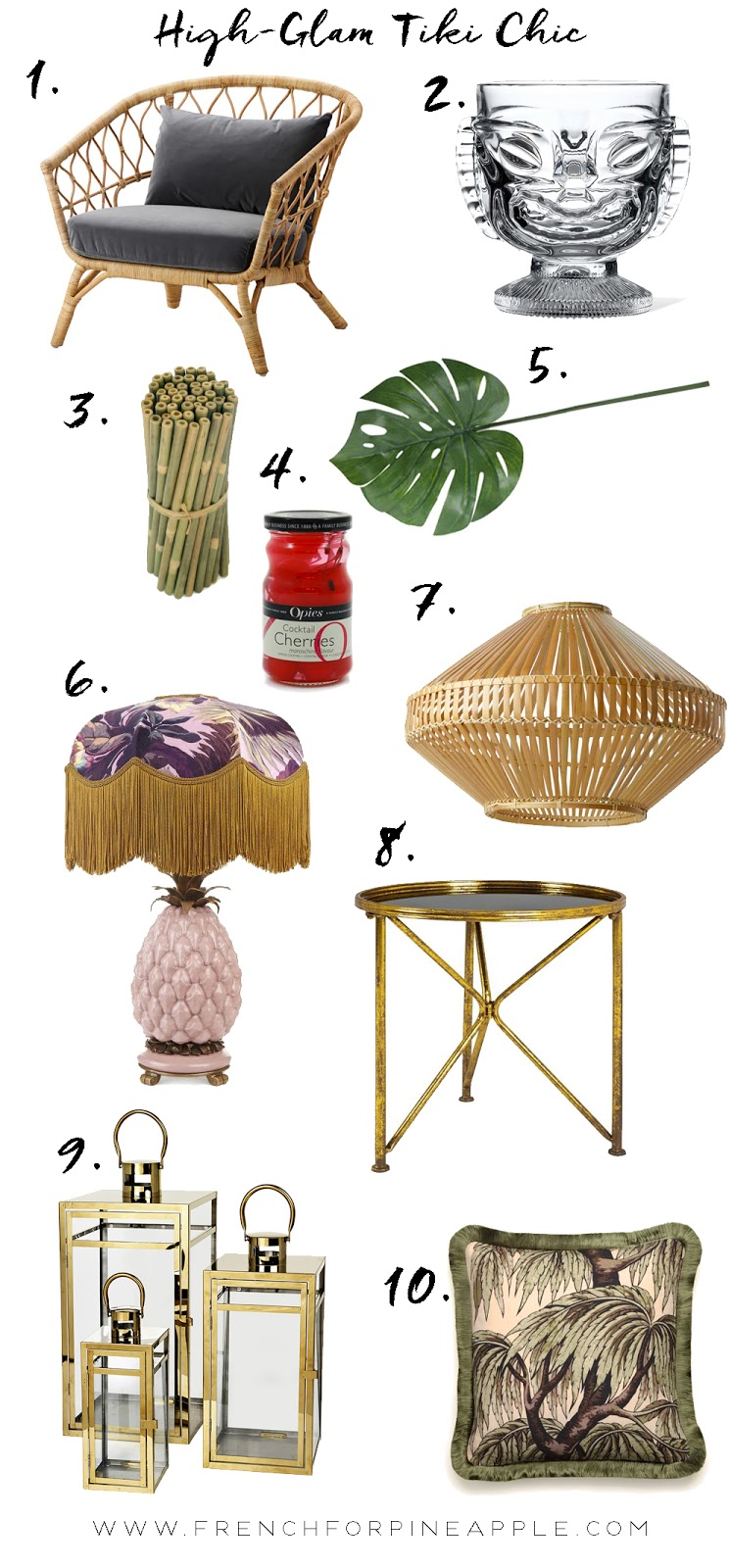 French For Pineapple Blog - High-Glam Tiki Chic