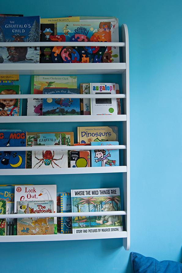 Blue Boys Room Makeover Bookshelf  French For Pineapple