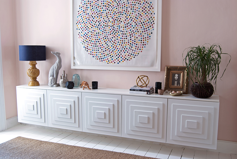 French For Pineapple Blog - Sideboard DIY - Ikea sideboard with diy panelled stepped doors