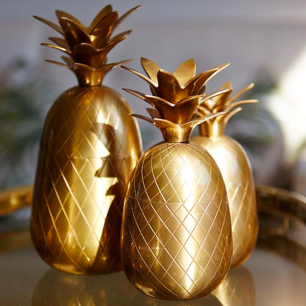 Three brass pineapples - French For Pineapple Blog