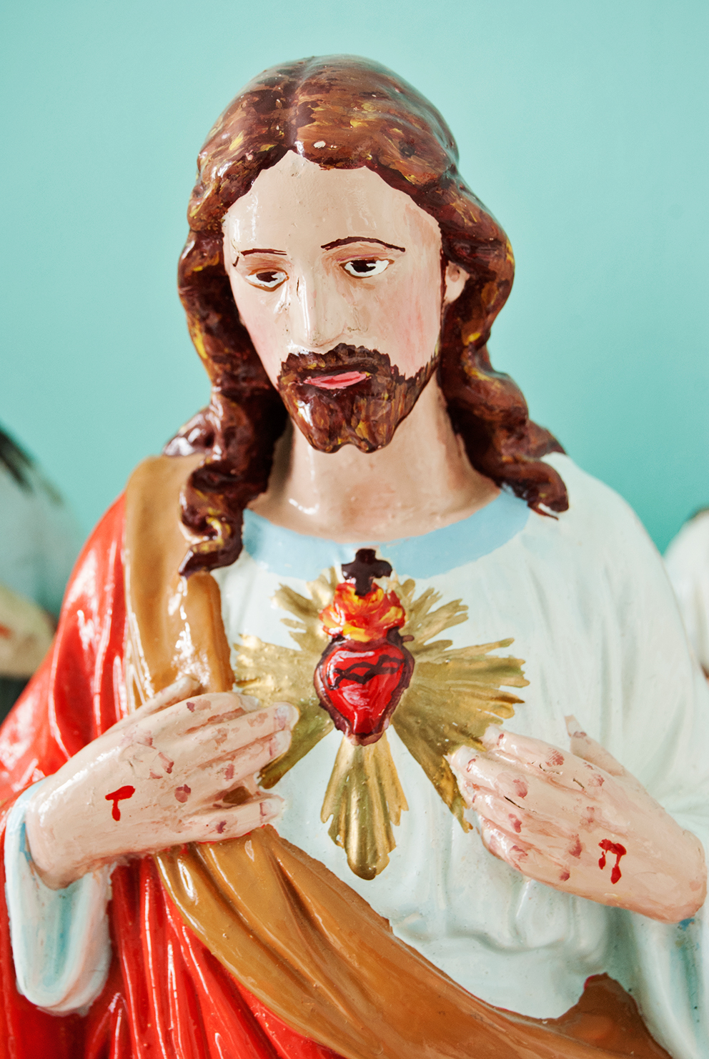 Sacred Heart of Jesus Statue Close Up