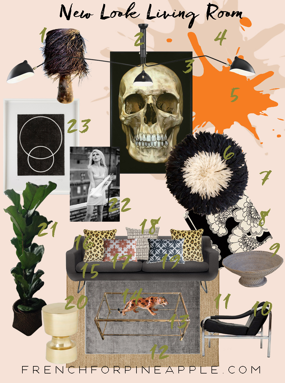Living Room Moodboard - French For Pineapple Blog
