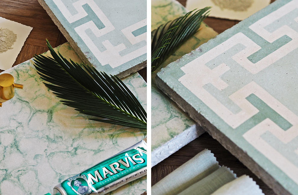 French For Pineapple Blog - Maitland & Poate Antinque Tiles .- Green Tile Details