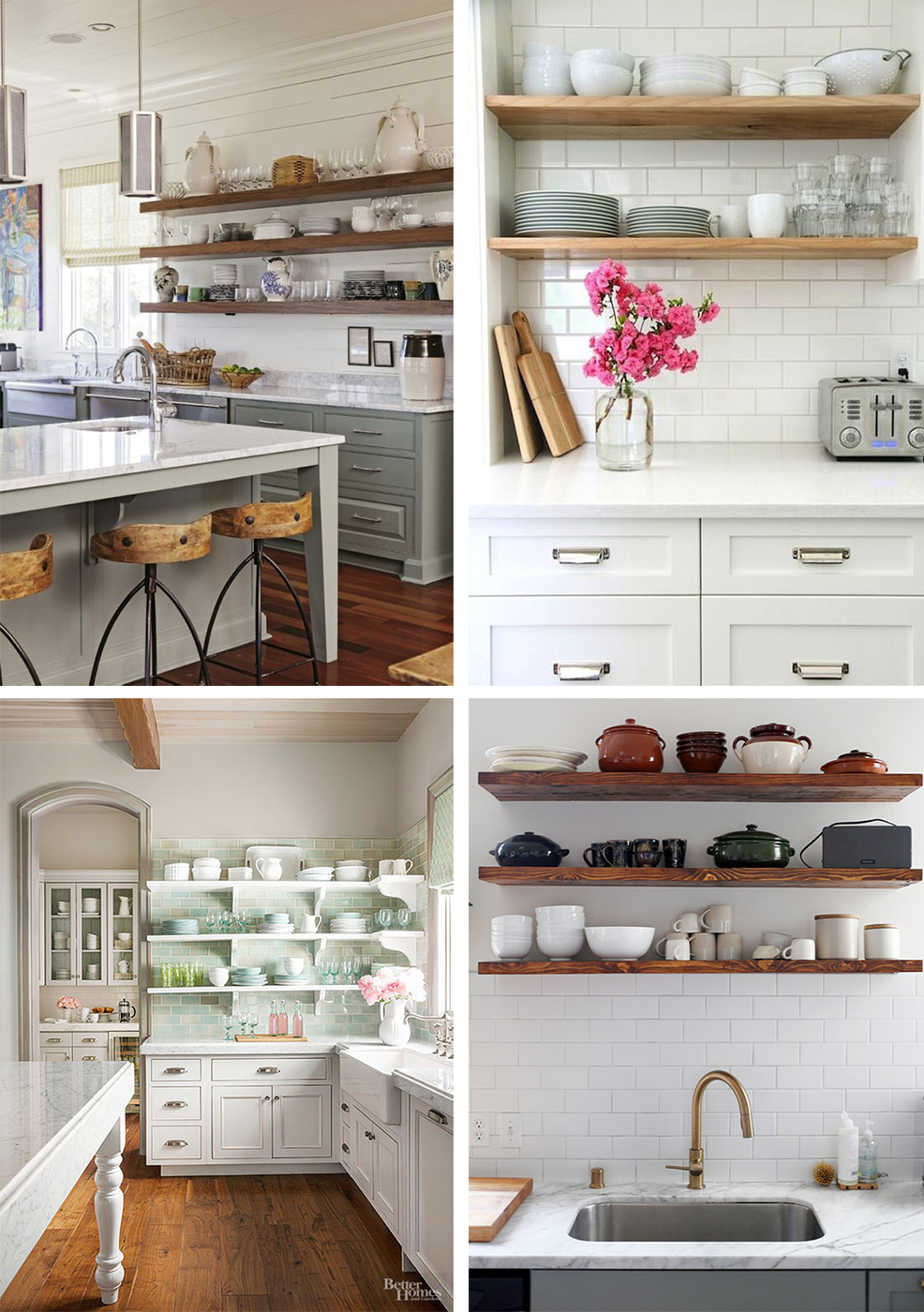 Kitchen Tweaking - Open Kitchen Shelving - French For Pineapple Blog