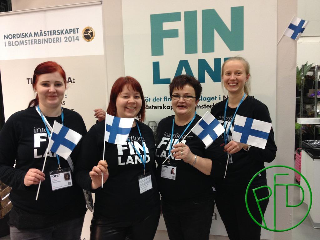 Team Finland: Jenniina Tiikkainen, Eine-Maria Nieminen, Merja Nikula, Jaana Korhonen