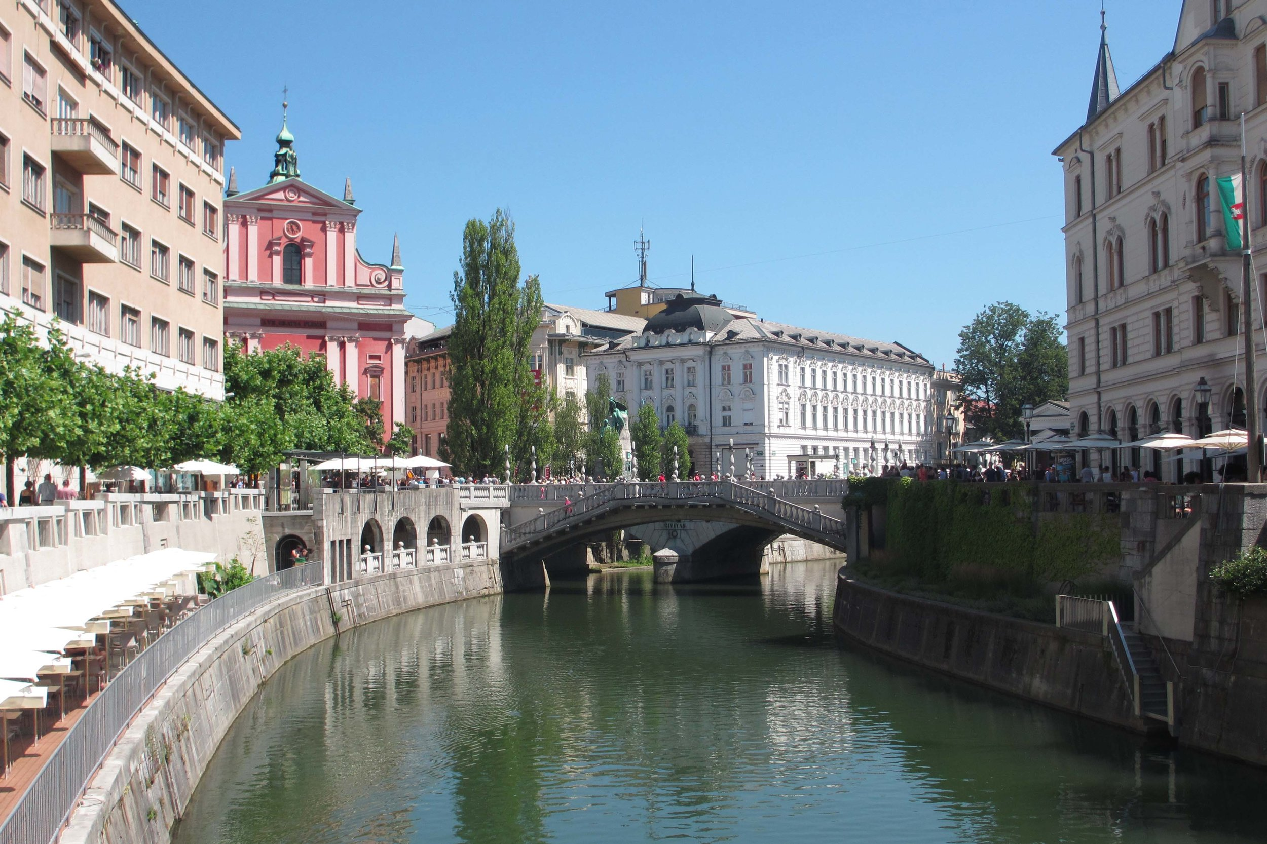Ljubljana is one of the world;s most walkable cities. Image by Sarah Reid