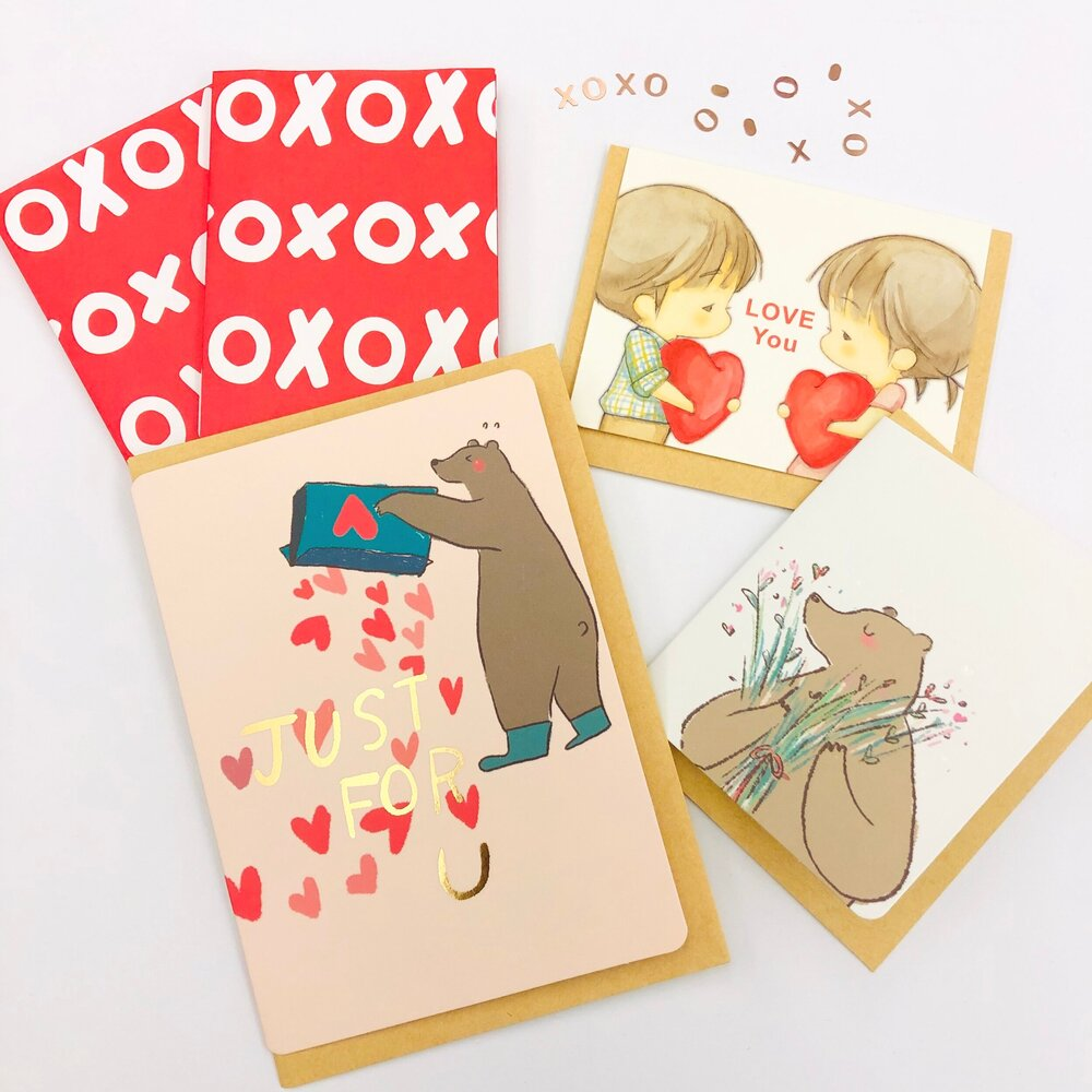 Shop our LOVE theme cards and stickers now!