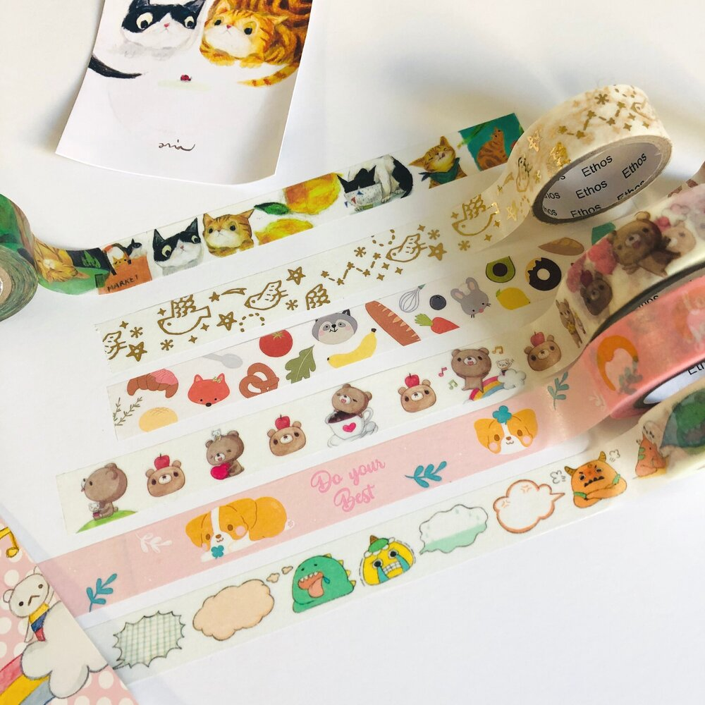 Sticky+Rice+Sisters+-+animals+washi+tape