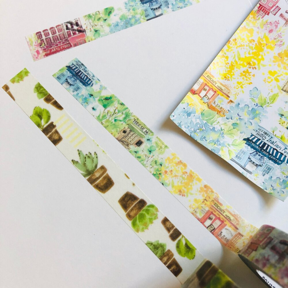 Sticky Rice Sisters - plants washi tape