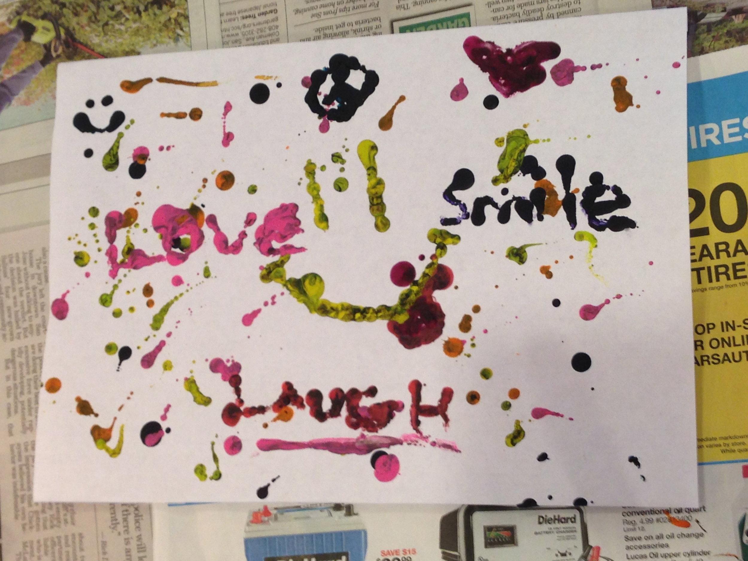 6th grade melted crayon art