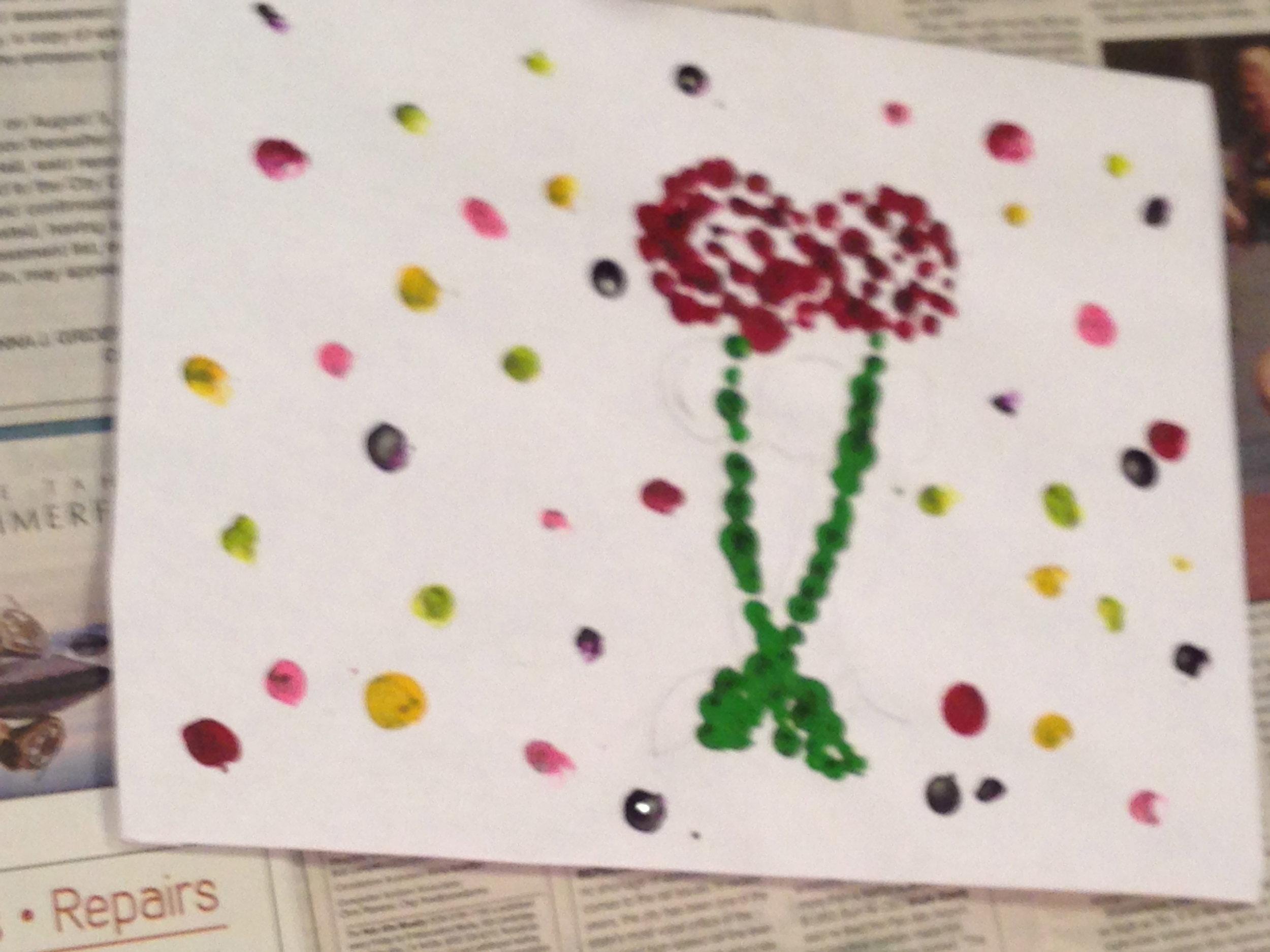 3rd grade melted crayon art