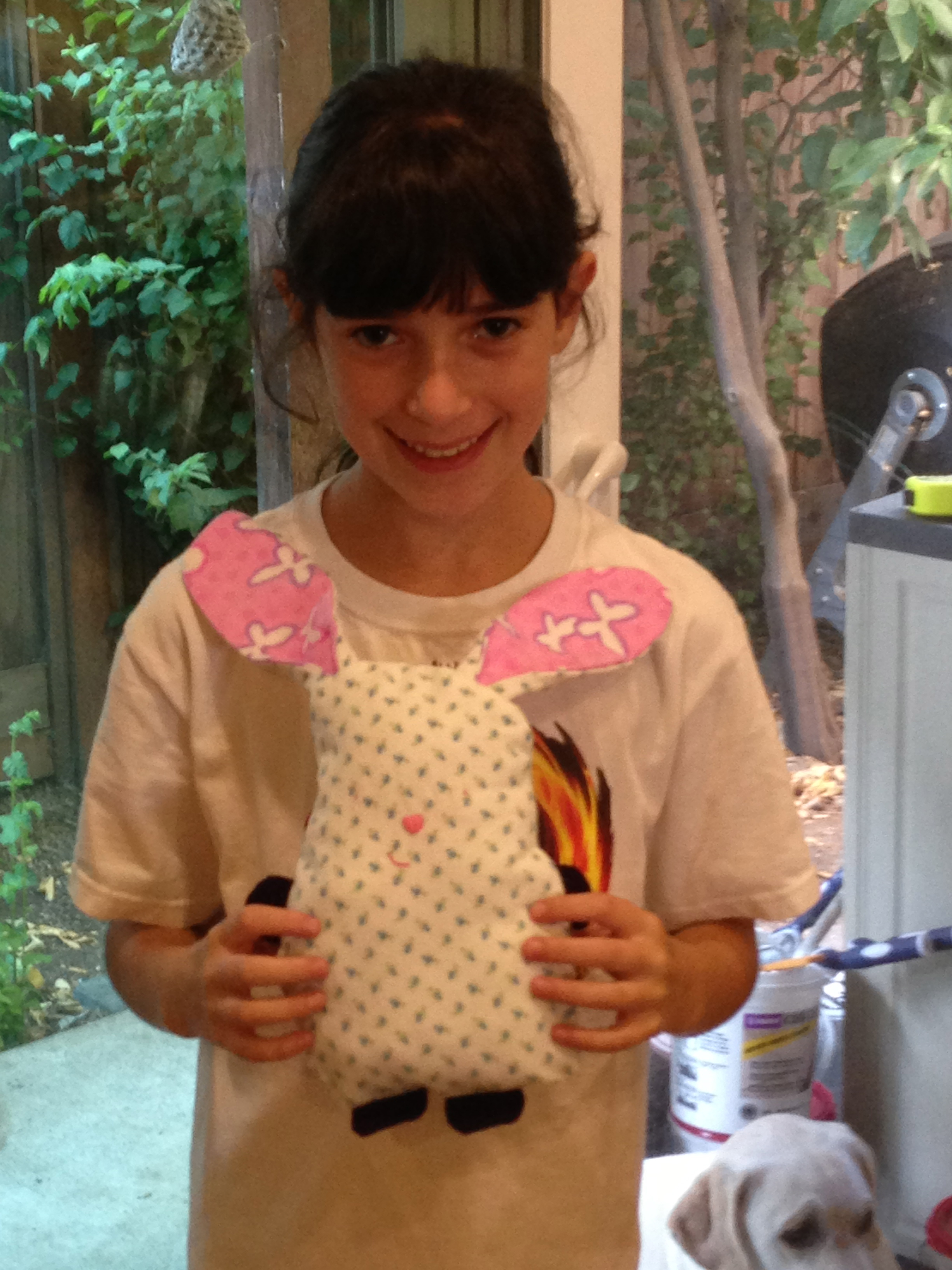 5th grader finished stuffed bunny.