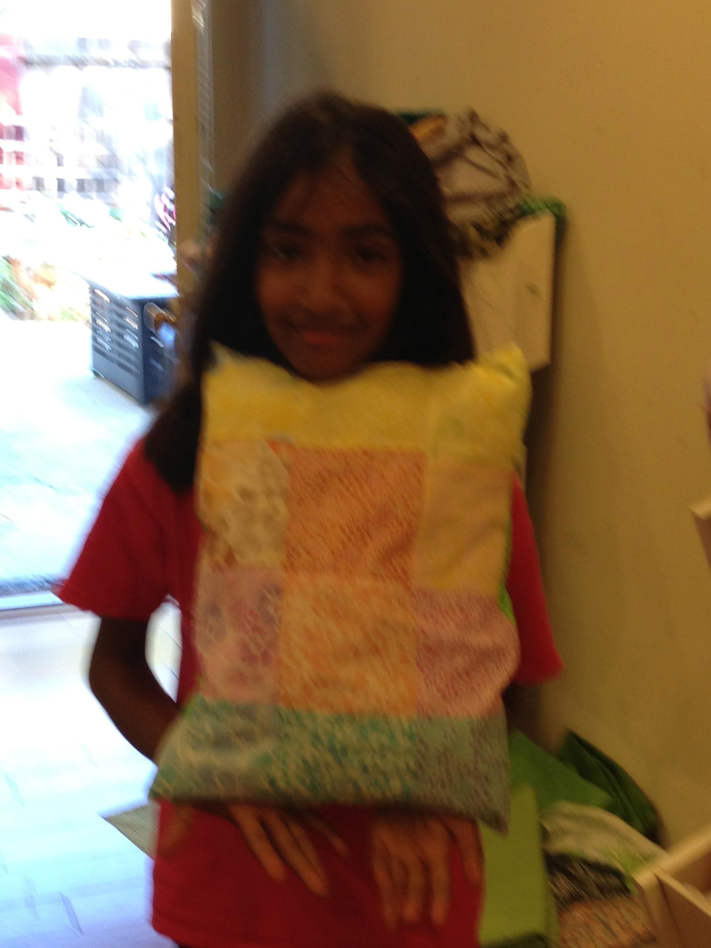 3rd grade patchwork pillow