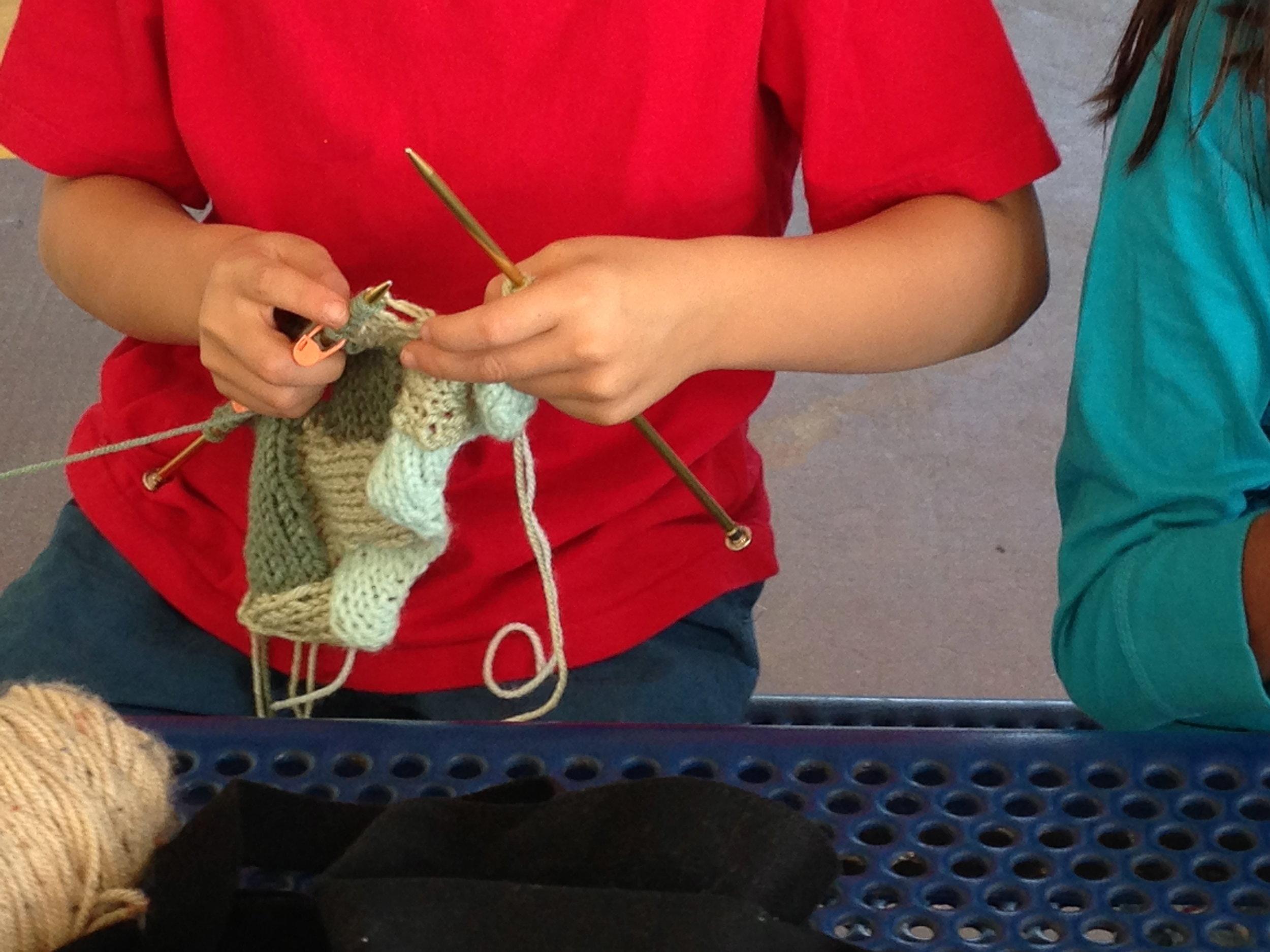 3rd grader working on Entreloc.