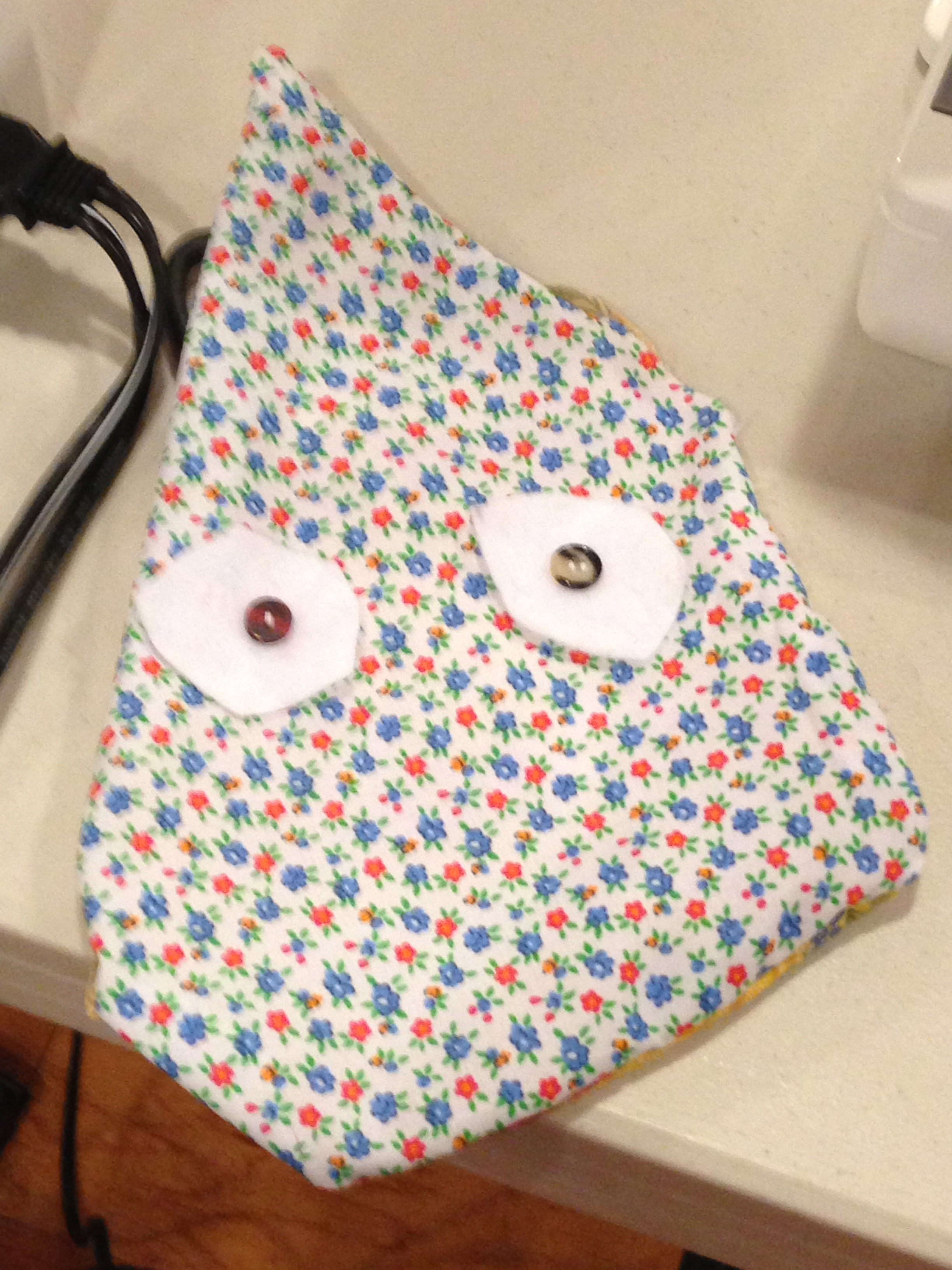 Owl pillow just about complete.