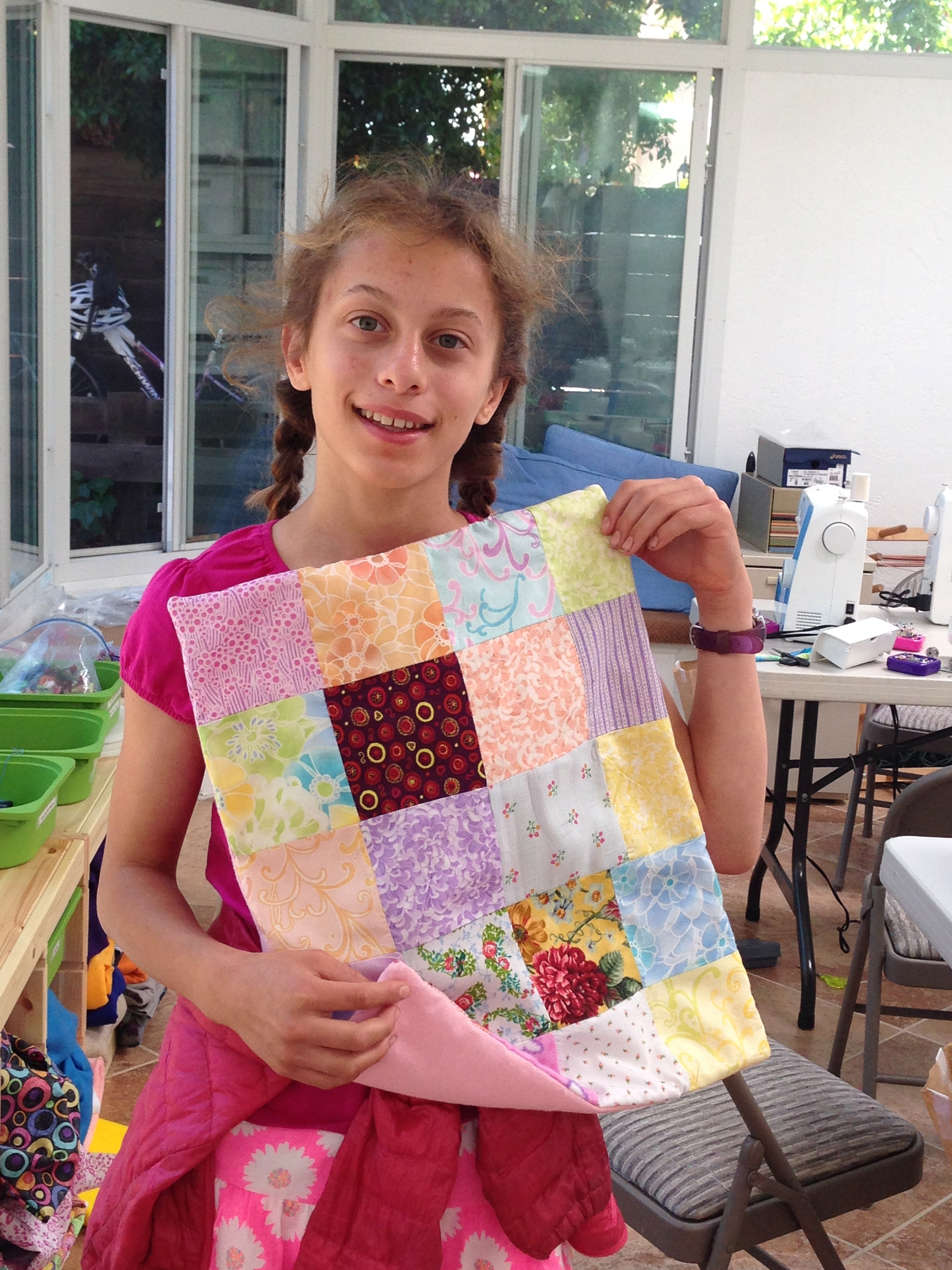 7th grader Pieced Quilt.