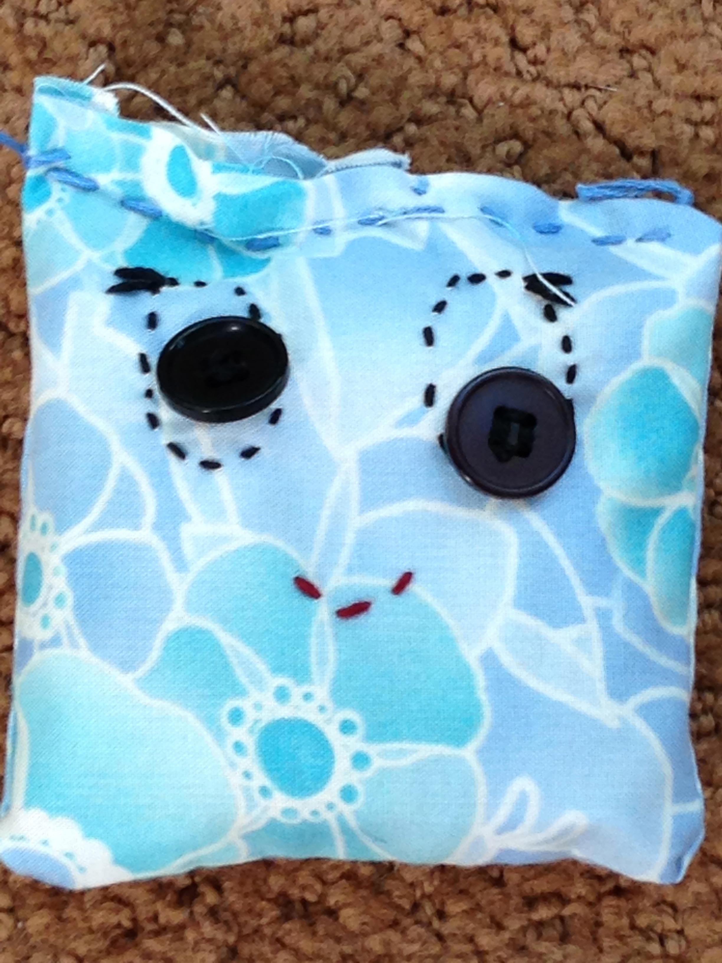 Close up of 4th grade bean bag.