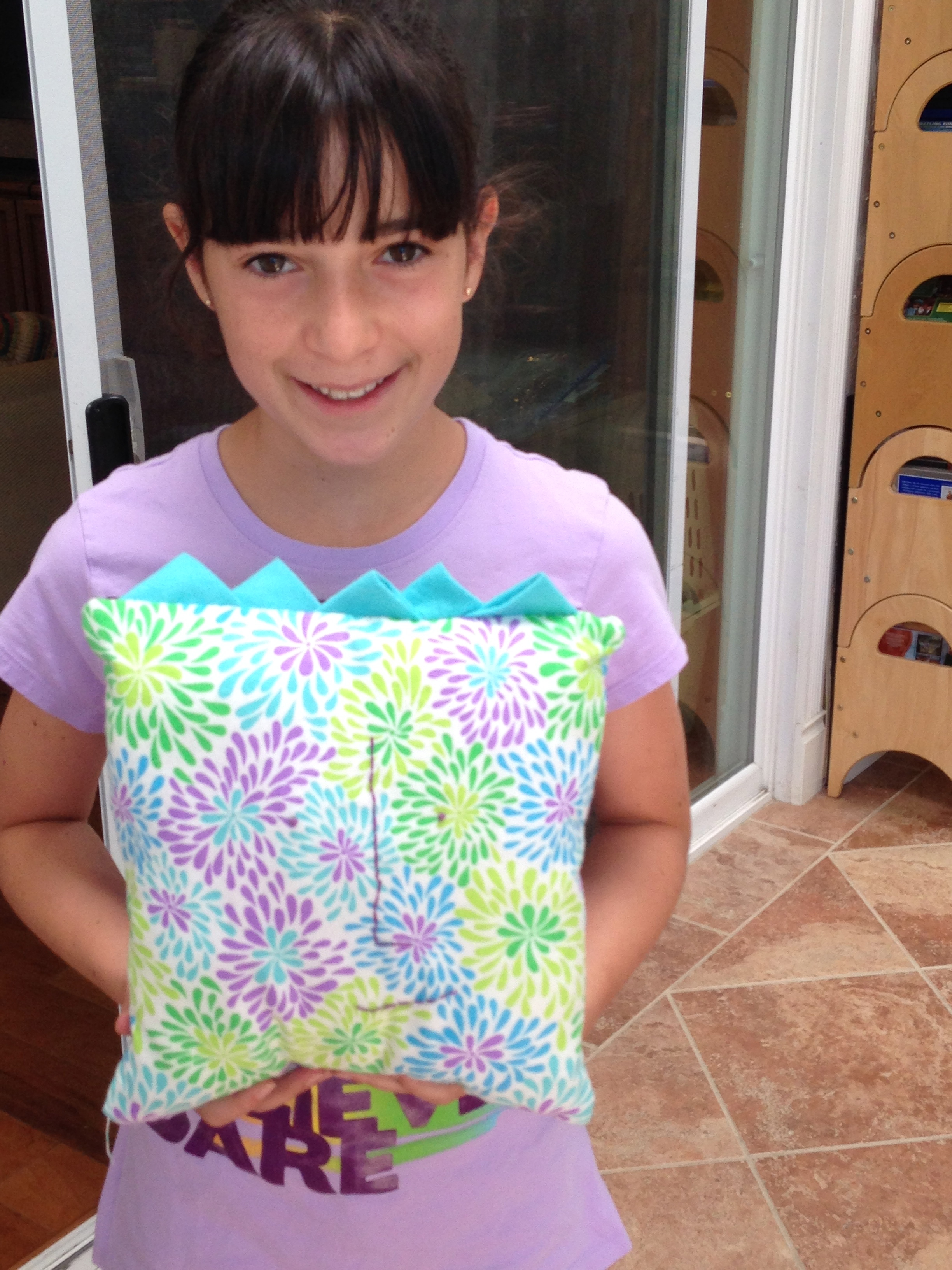 "6th grader ""Blockhead"" pillow."