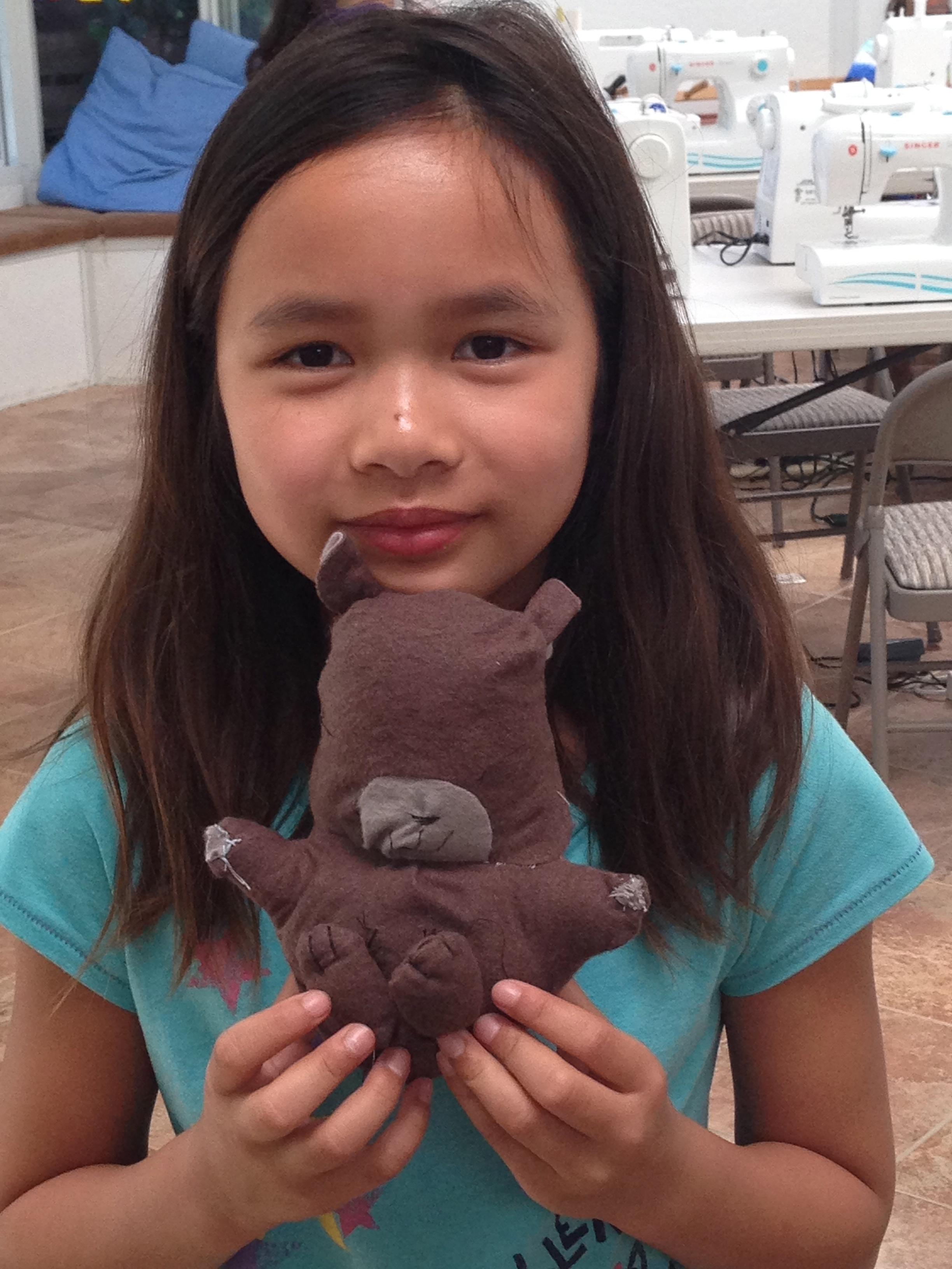 4th grader stuffed hamster.