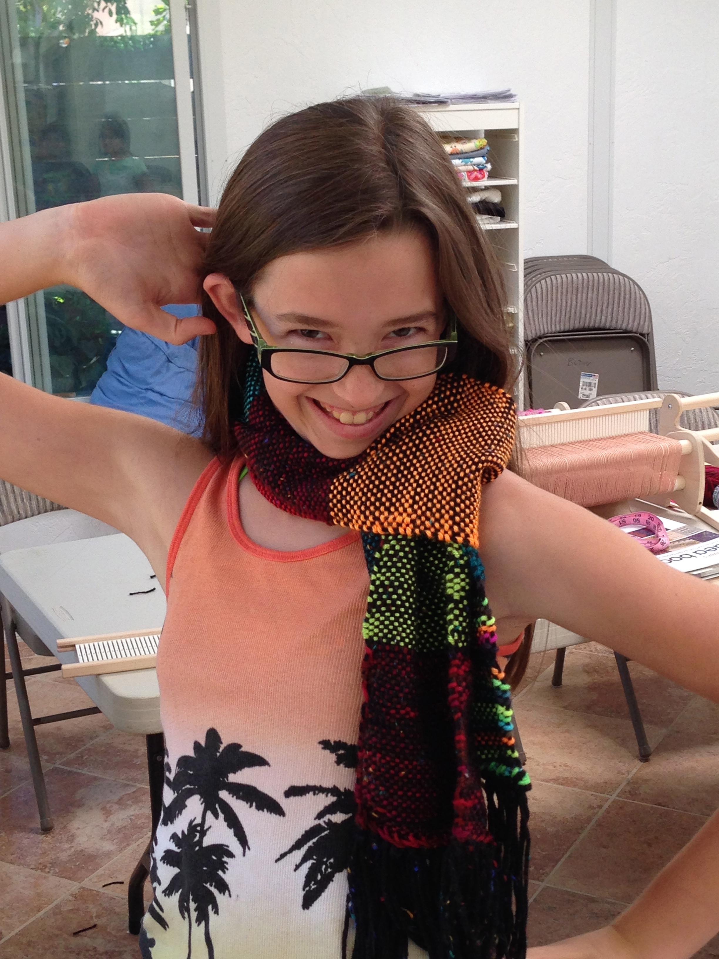 7th grader scarf.