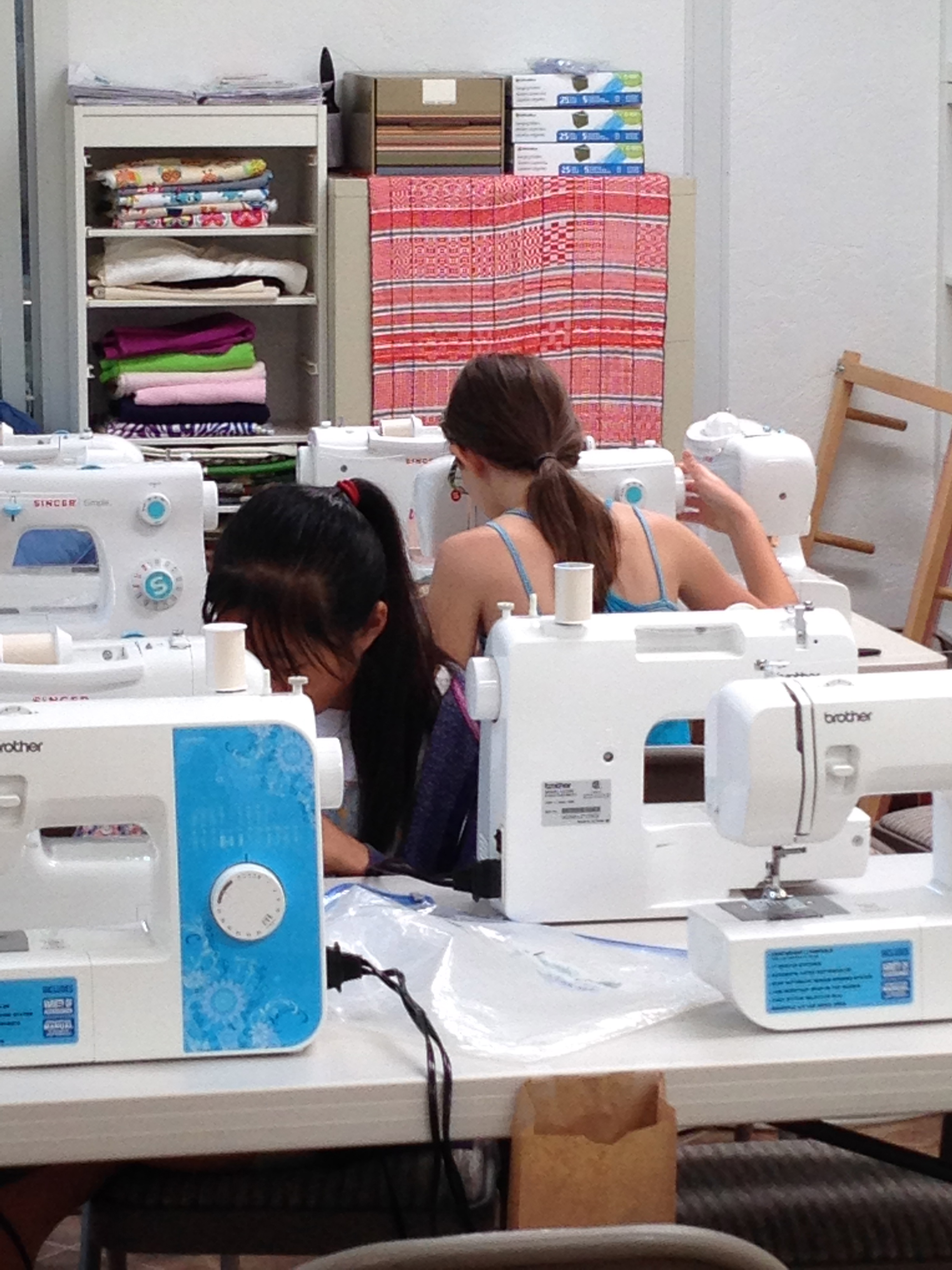 Sewing, sewing, sewing.