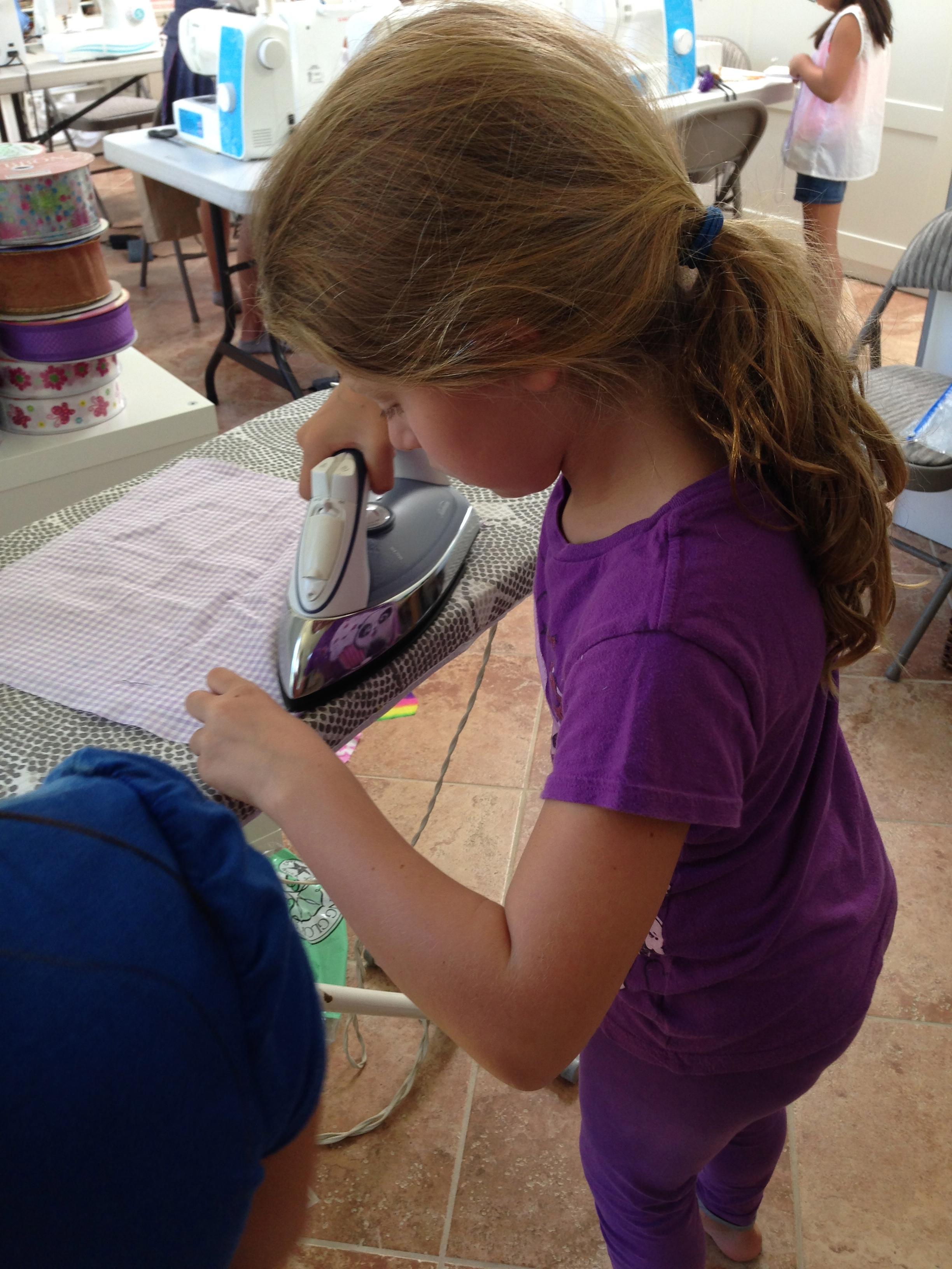 More fun ironing.
