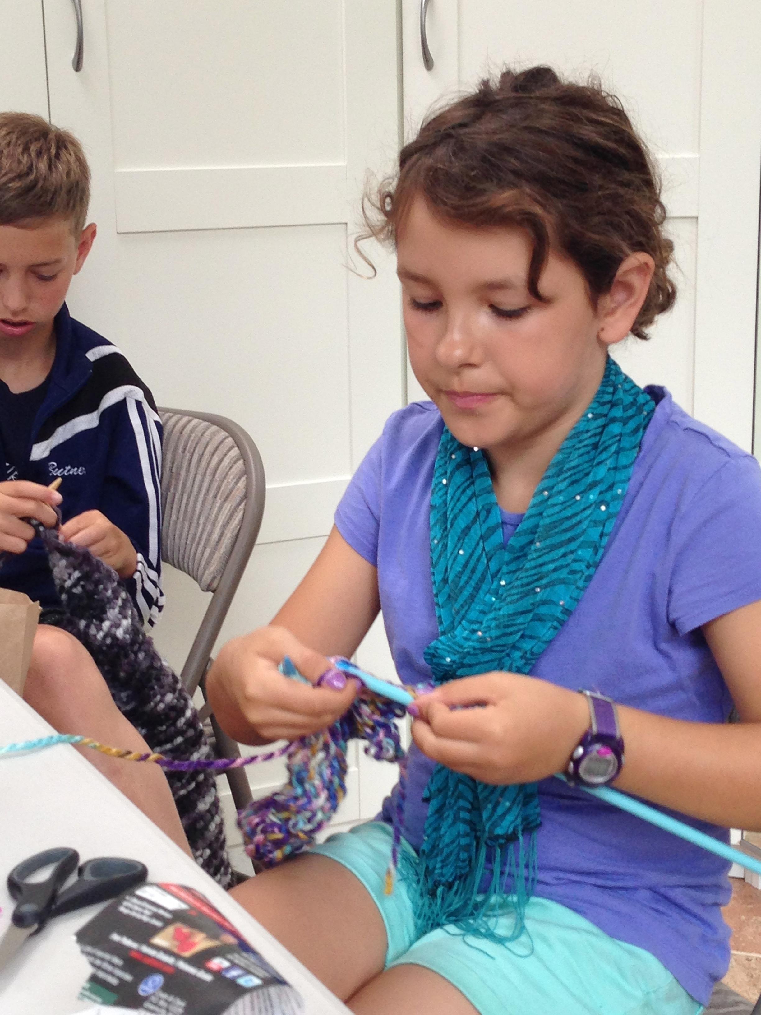 4th grade knitter.