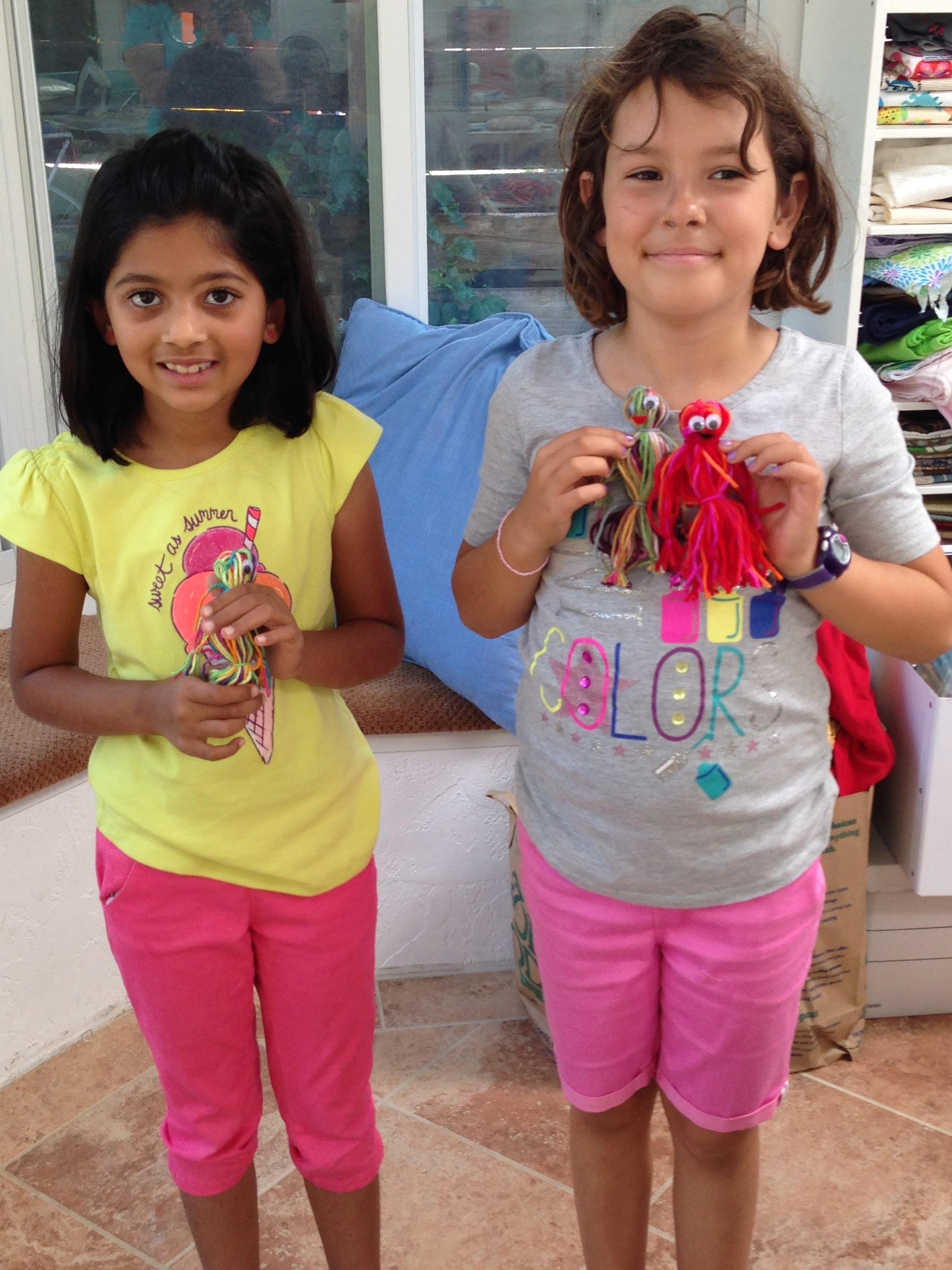 3rd and 4th grade yarn dolls.
