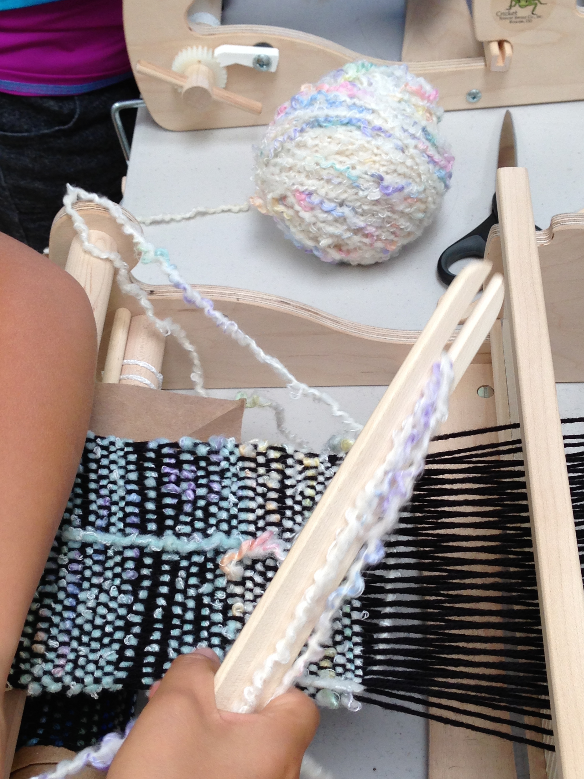 Gift yarn being used.
