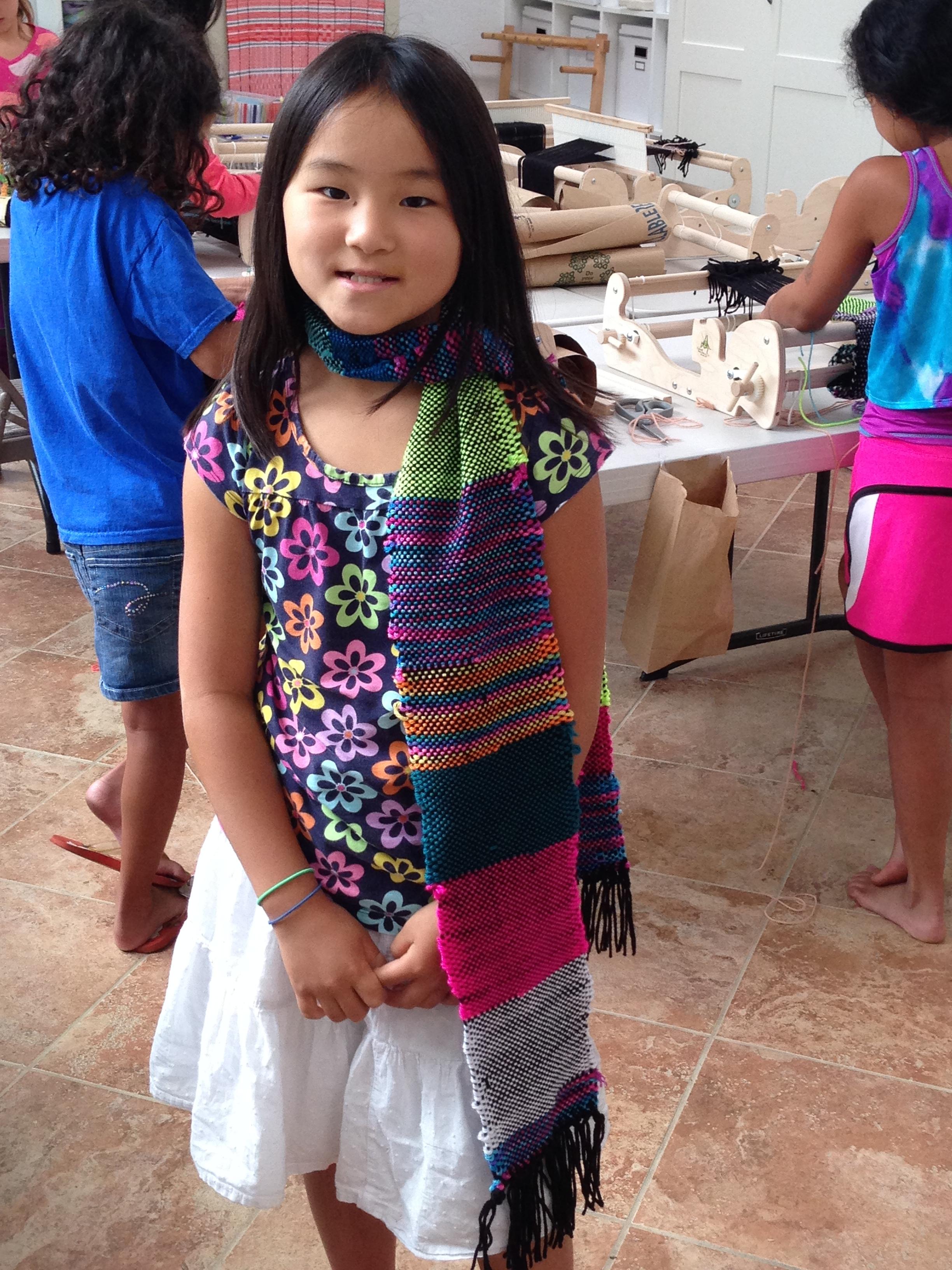 4th grader scarf.
