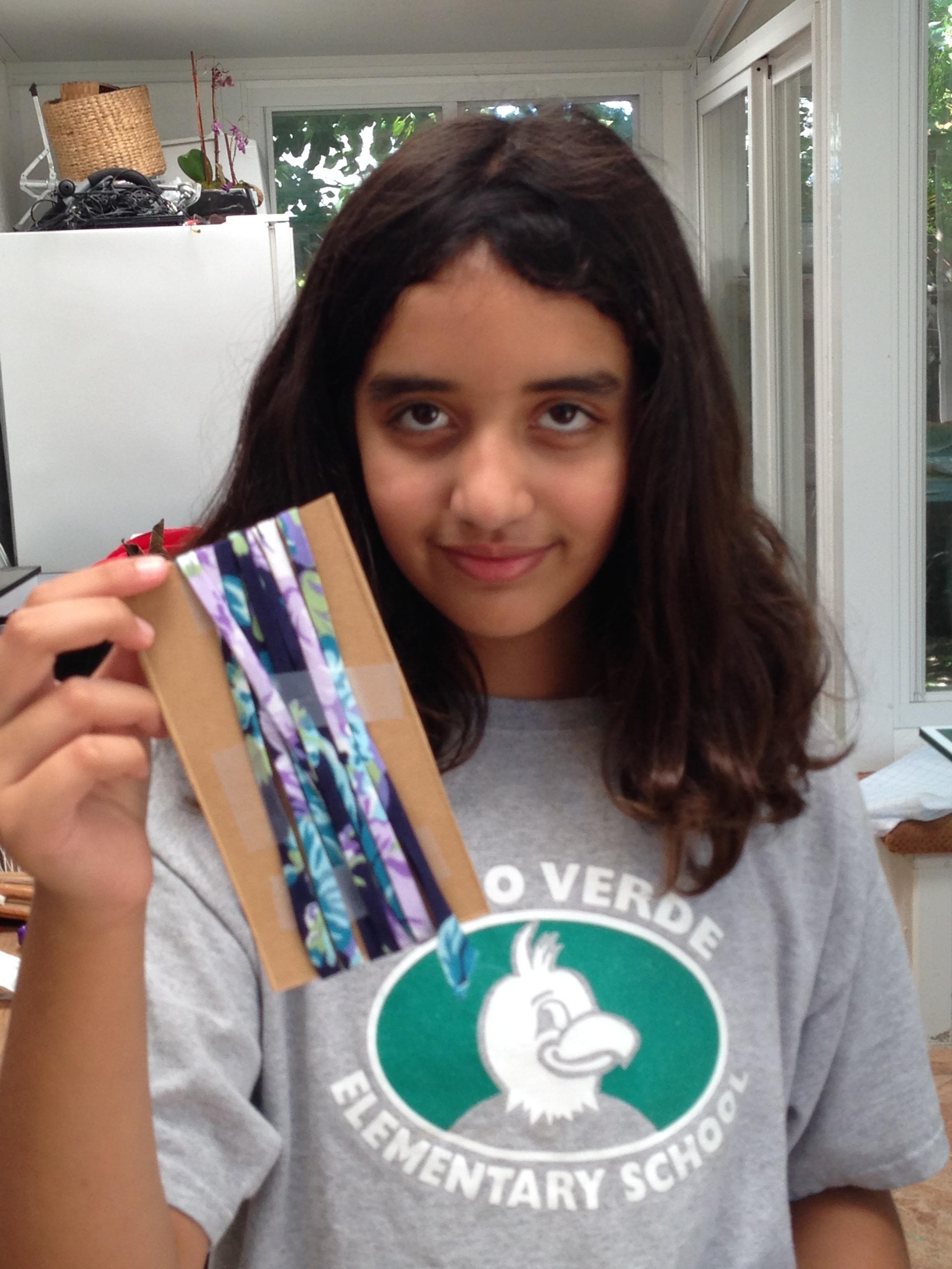 6th grader bias tape.