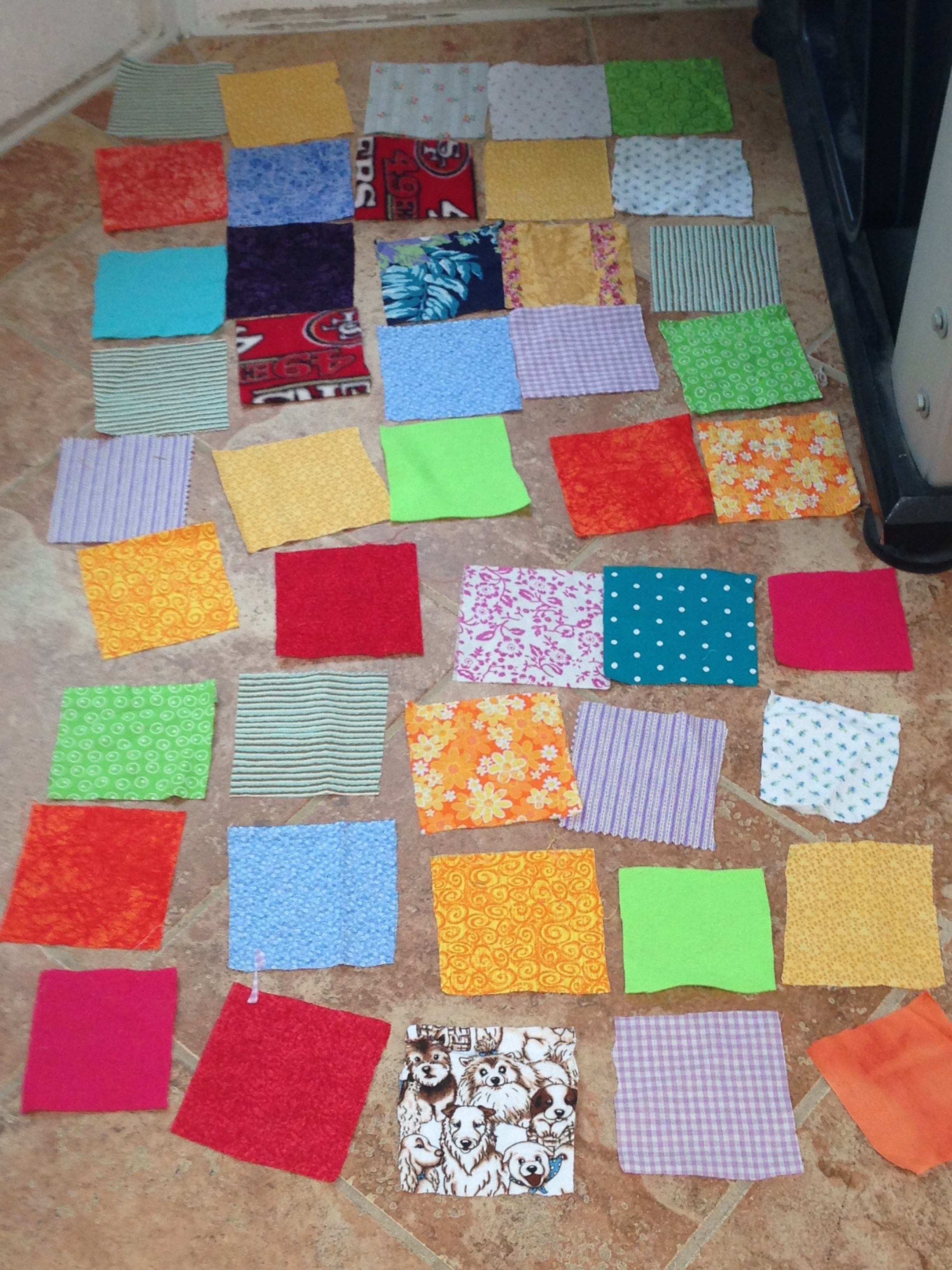 Beautiful quilt layout.