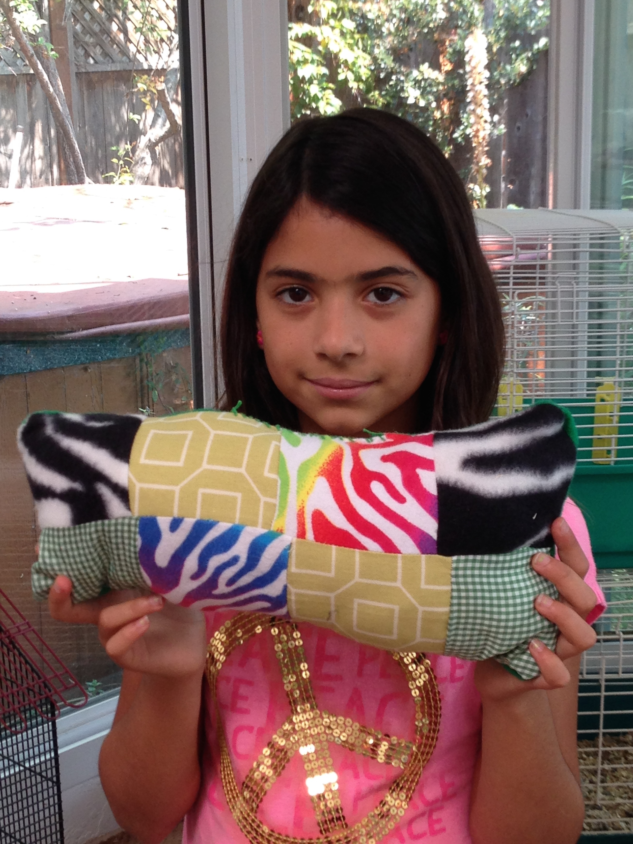 4th grader quilted pillow.