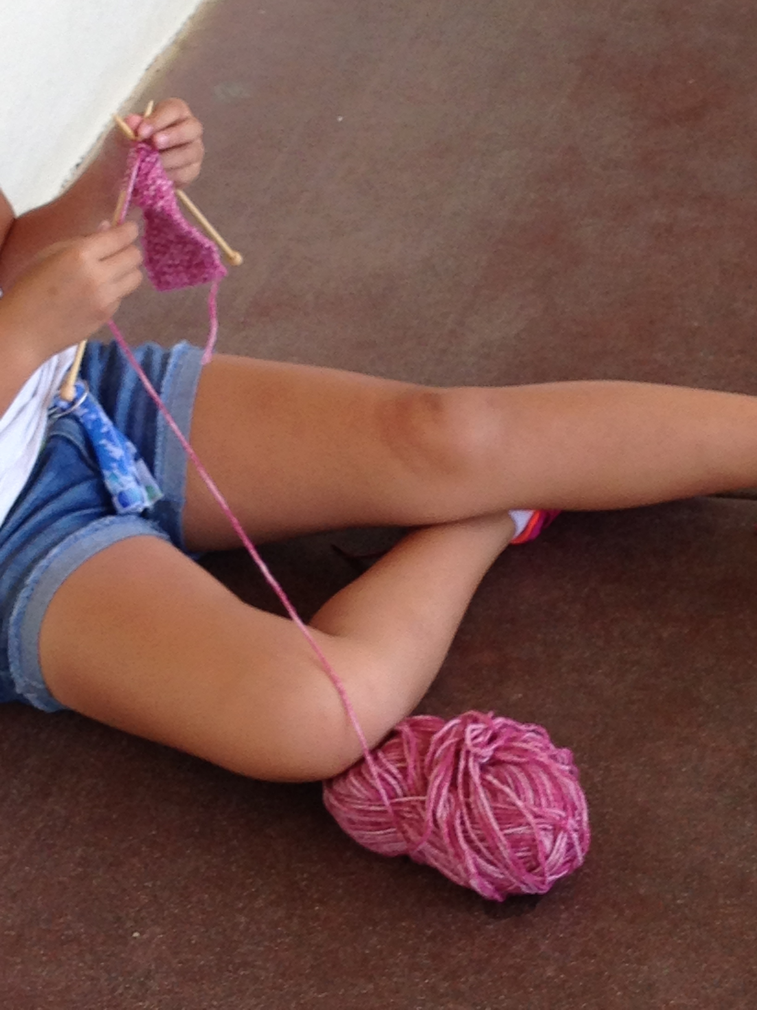More knitting.