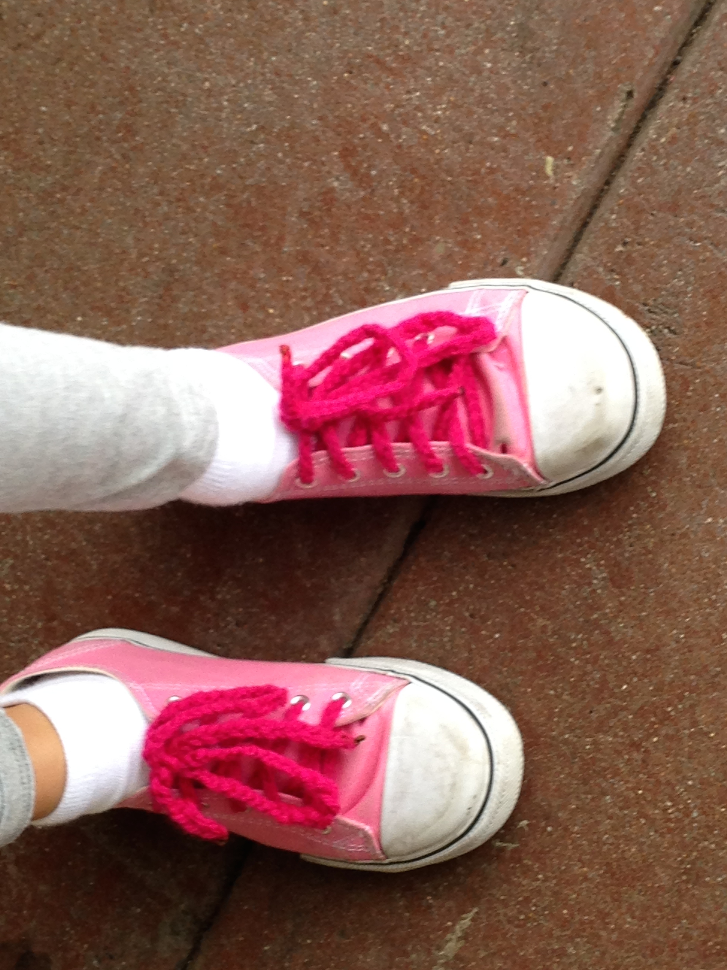 3rd grade crochet shoelaces.