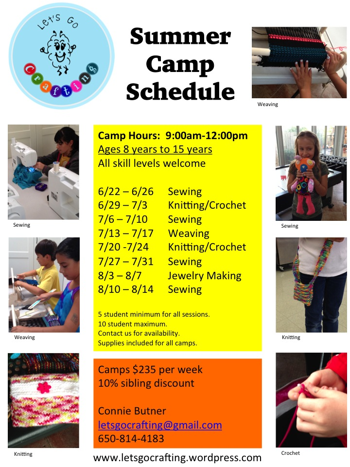 2015 Summer Camp Schedule