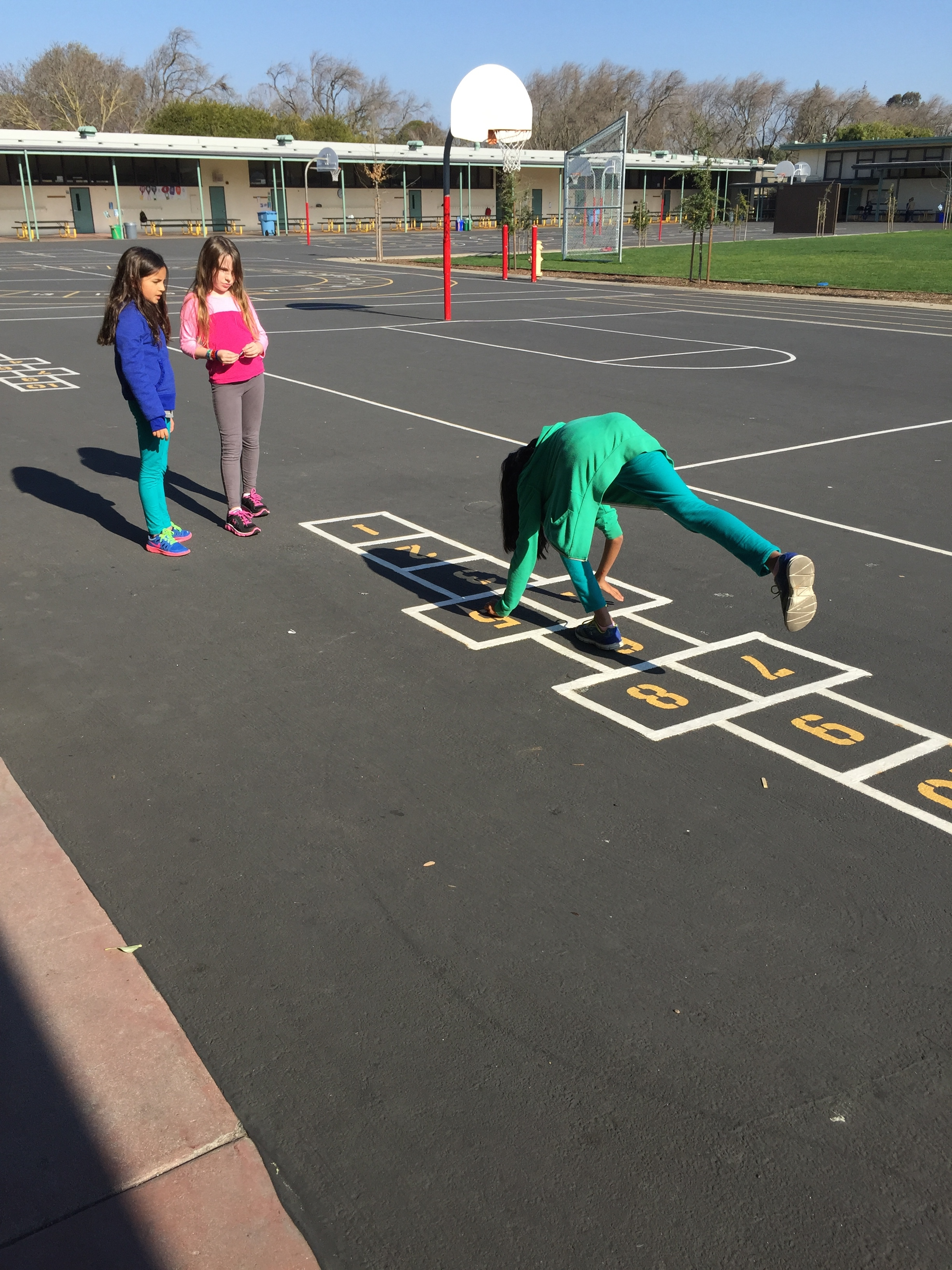 Hop scotch today for break.
