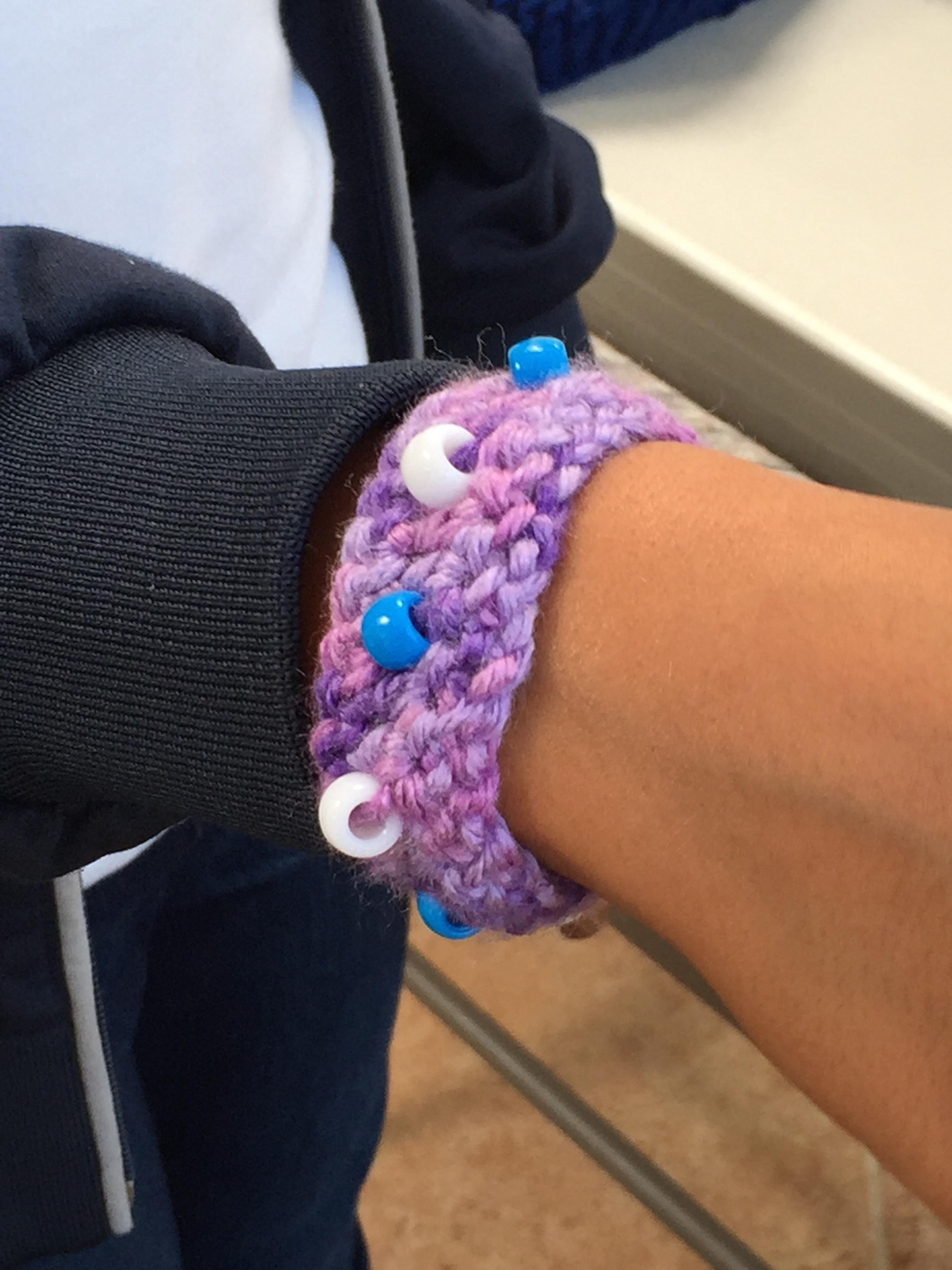 Crochet Beaded Bracelet.