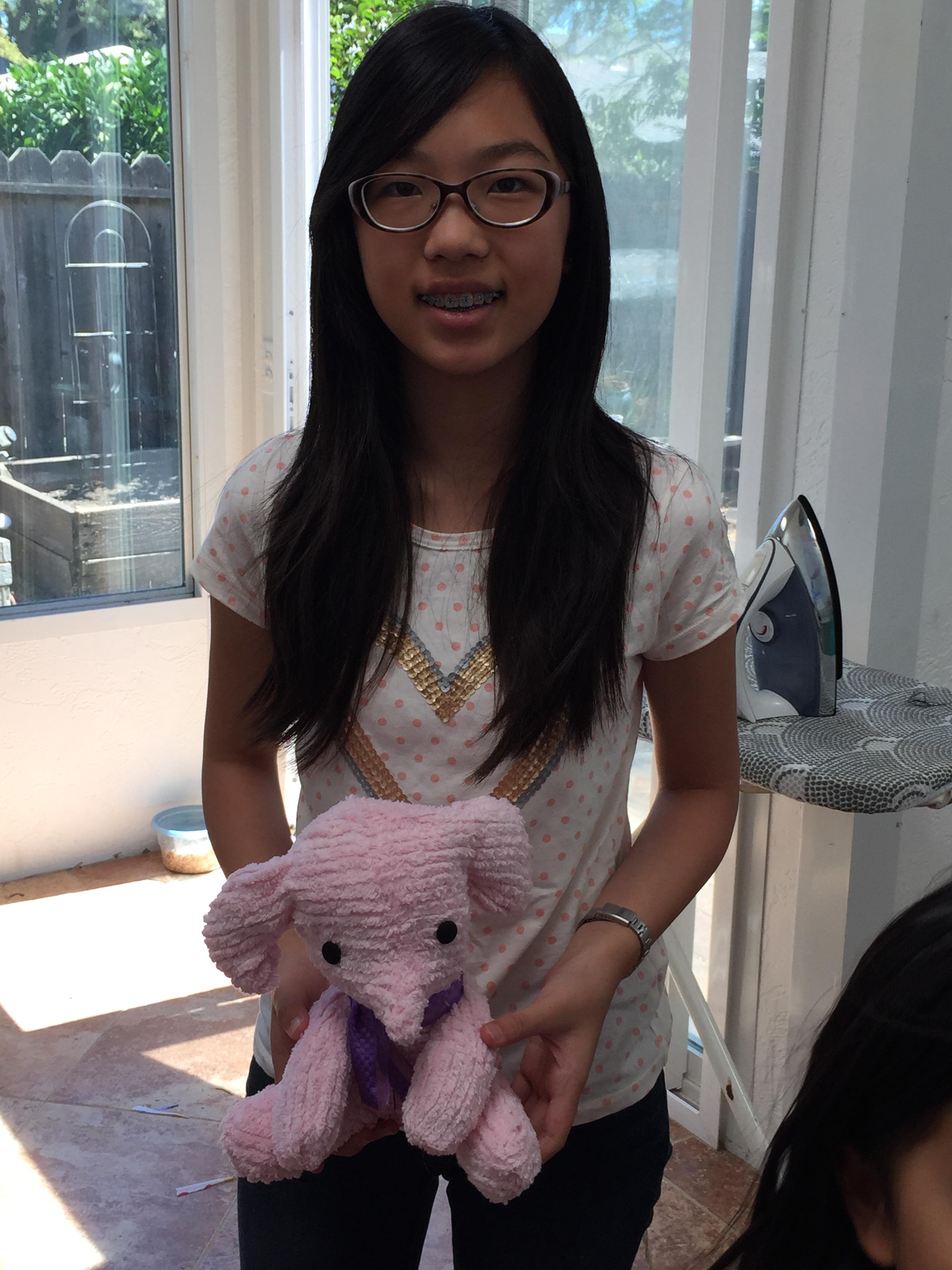 Elephant stuffie.