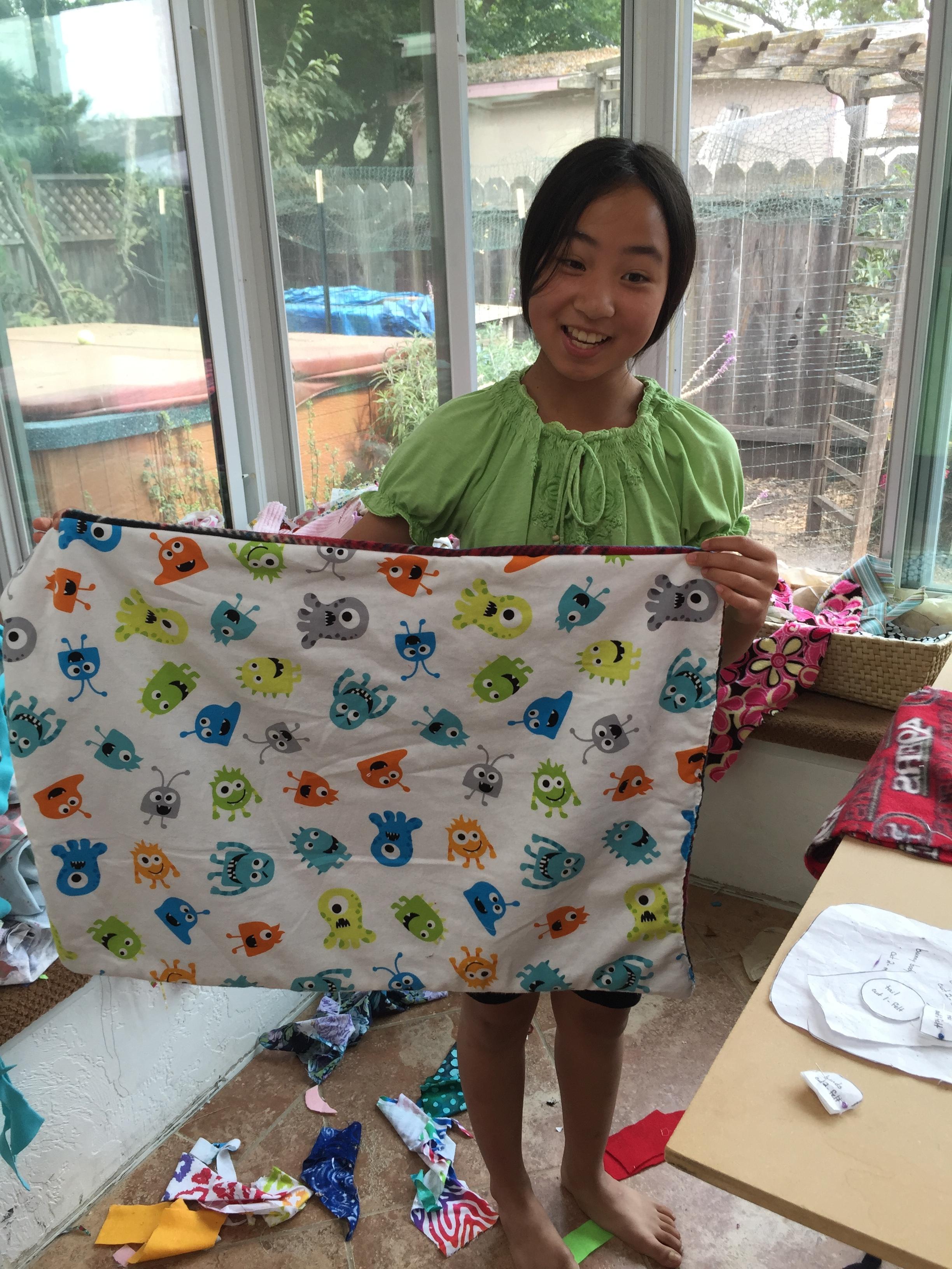 Blanket for her dog.