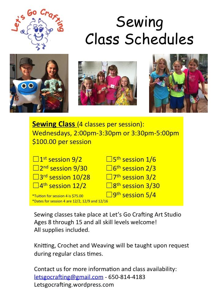 2015 Class Schedule