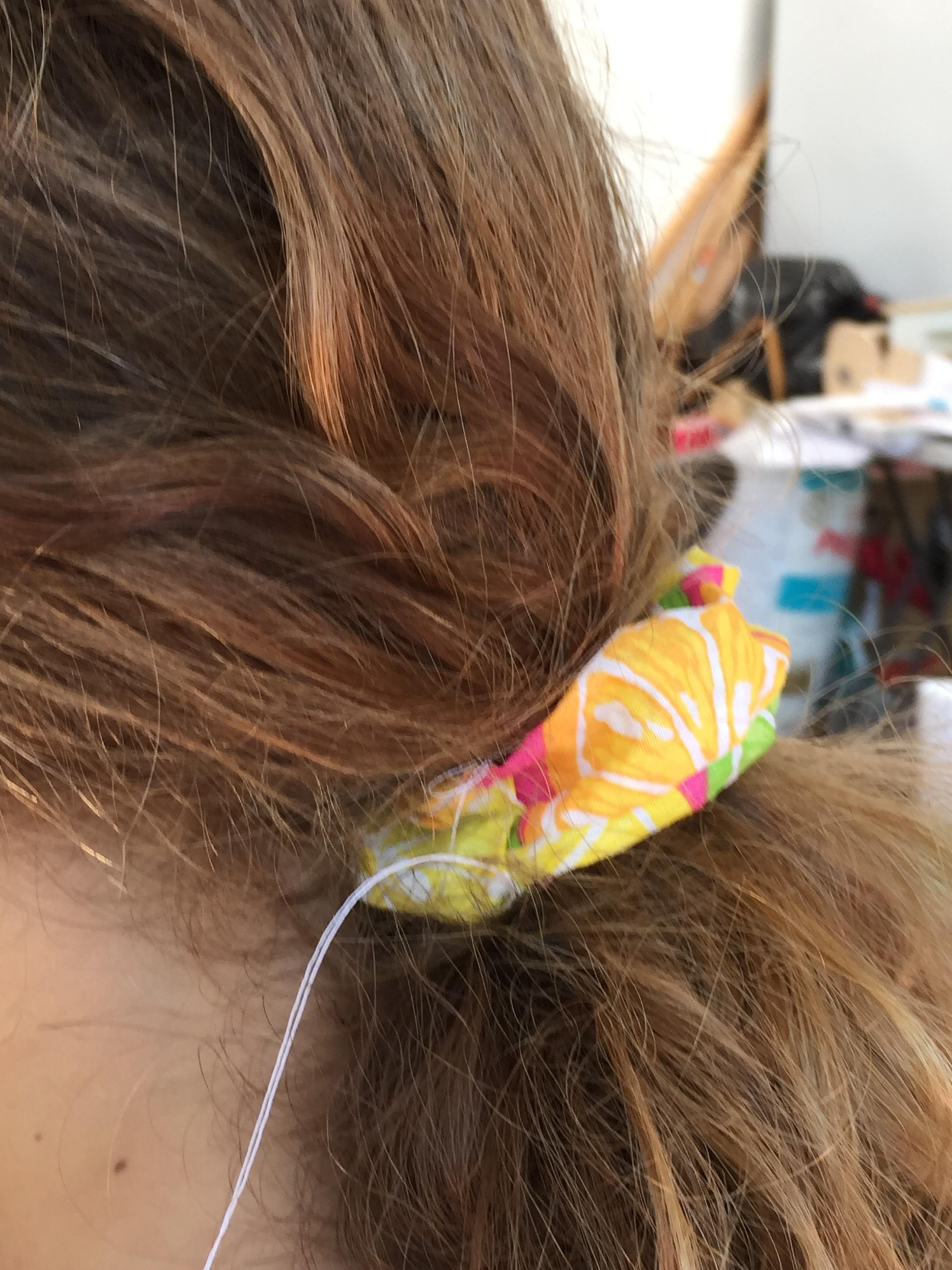Hair scrunchie.