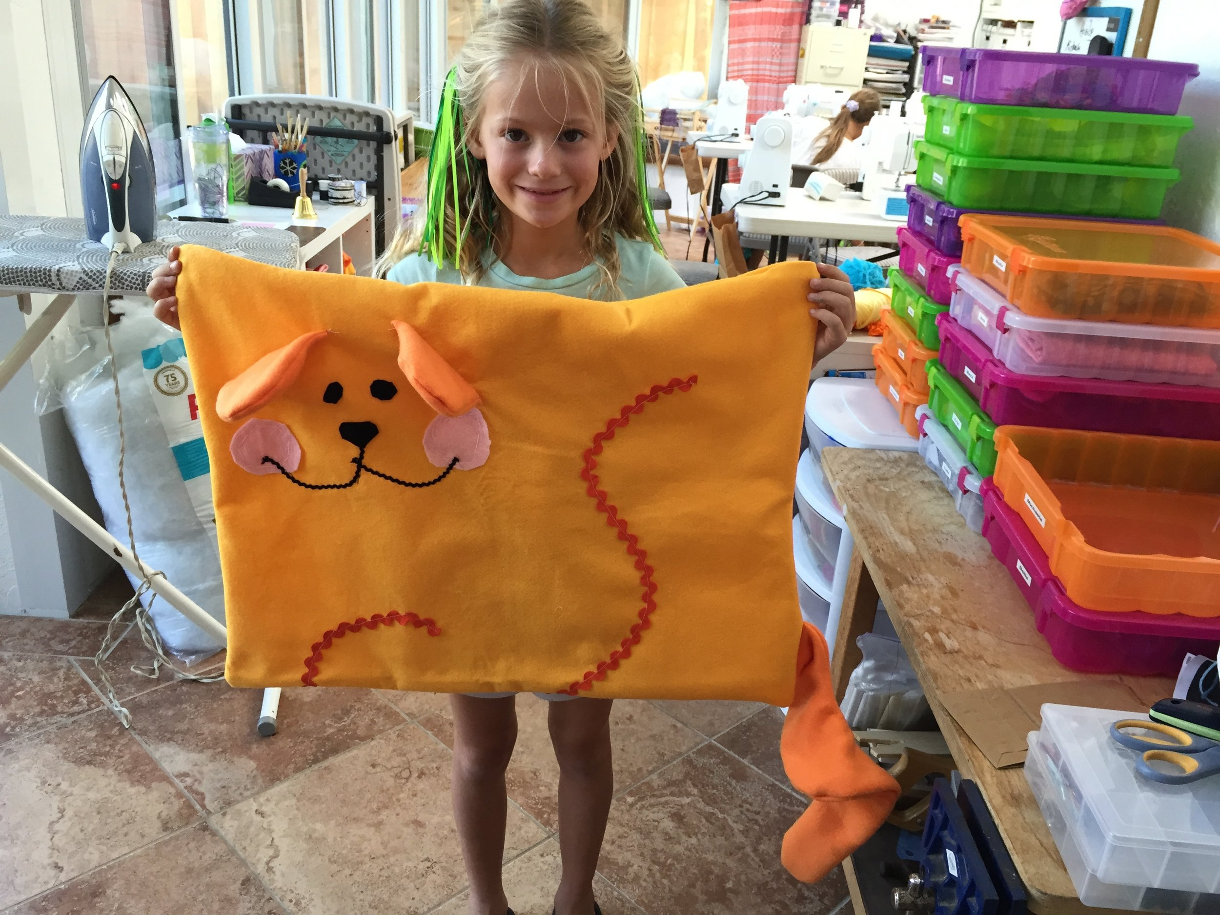 3rd grader Cat Pillowcase.