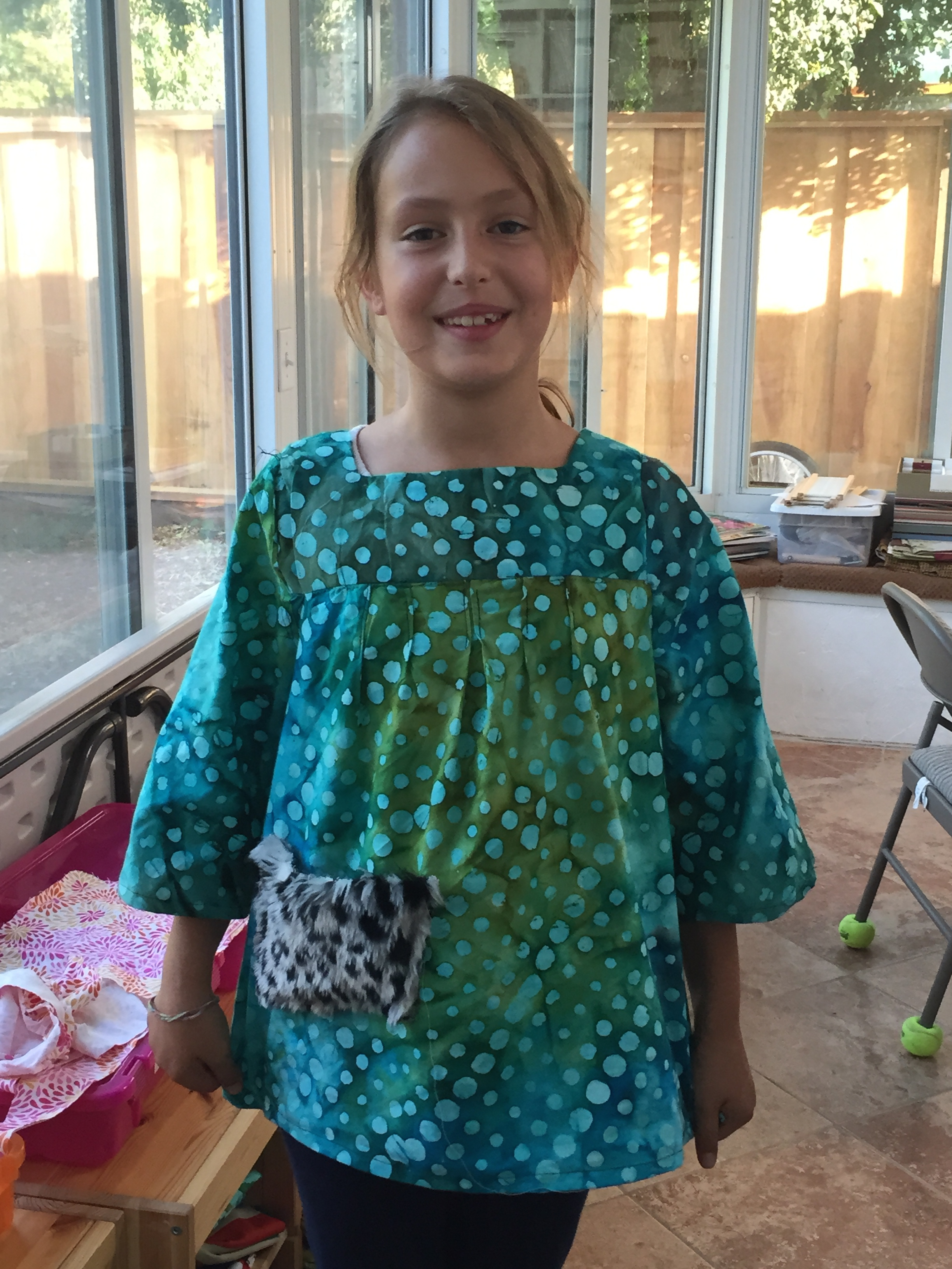 4th grader blouse.