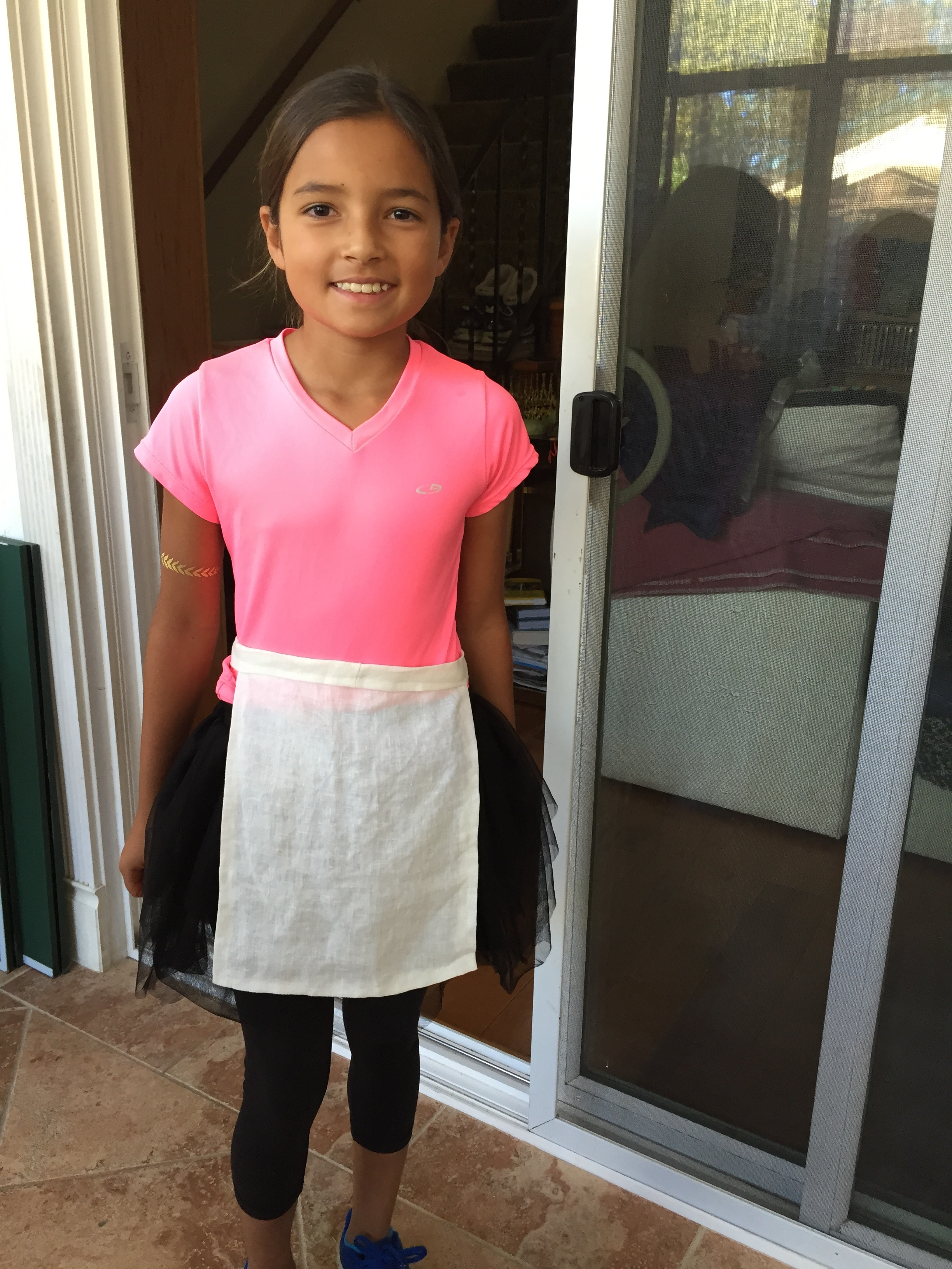 Apron for her Halloween Costume.