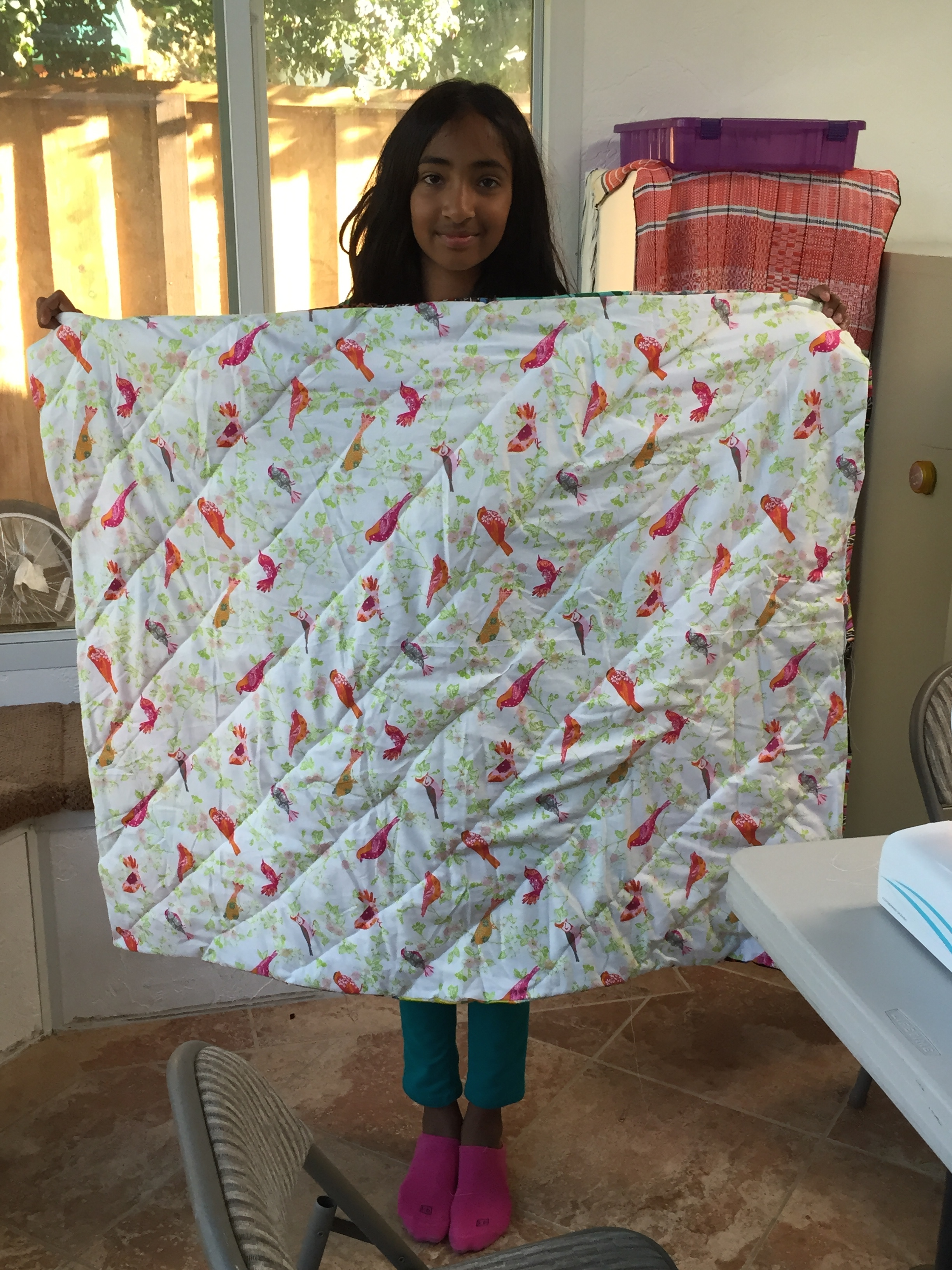 The back shows how this was quilted.