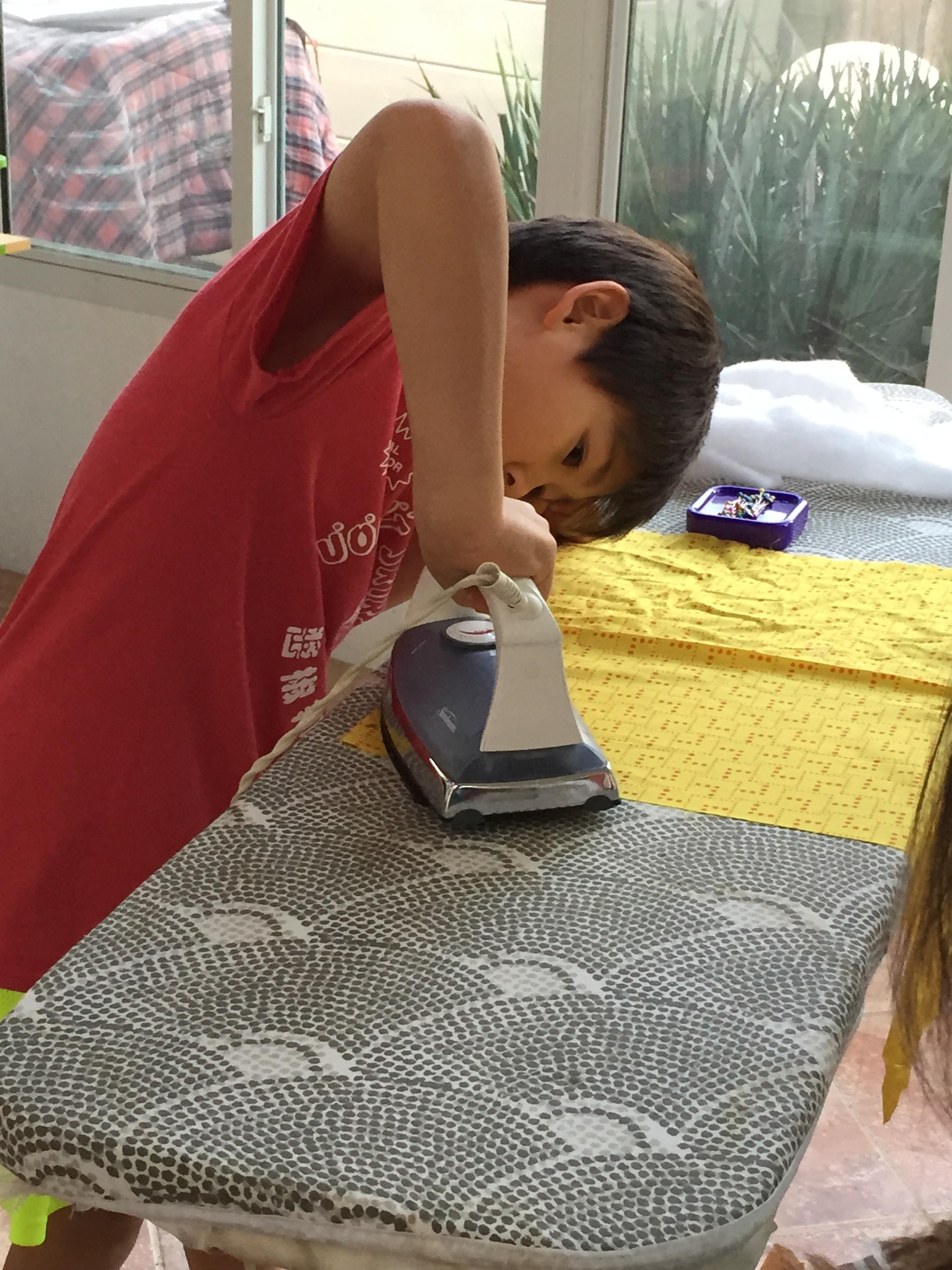 Ironing.