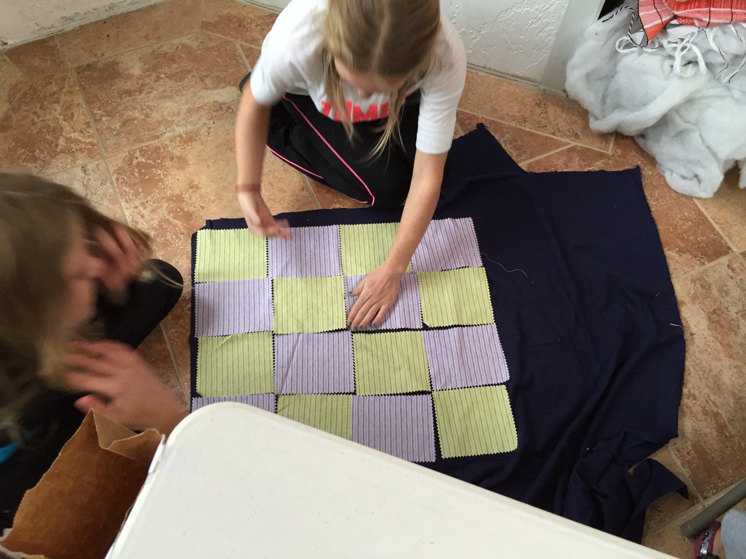 Starting a quilt.