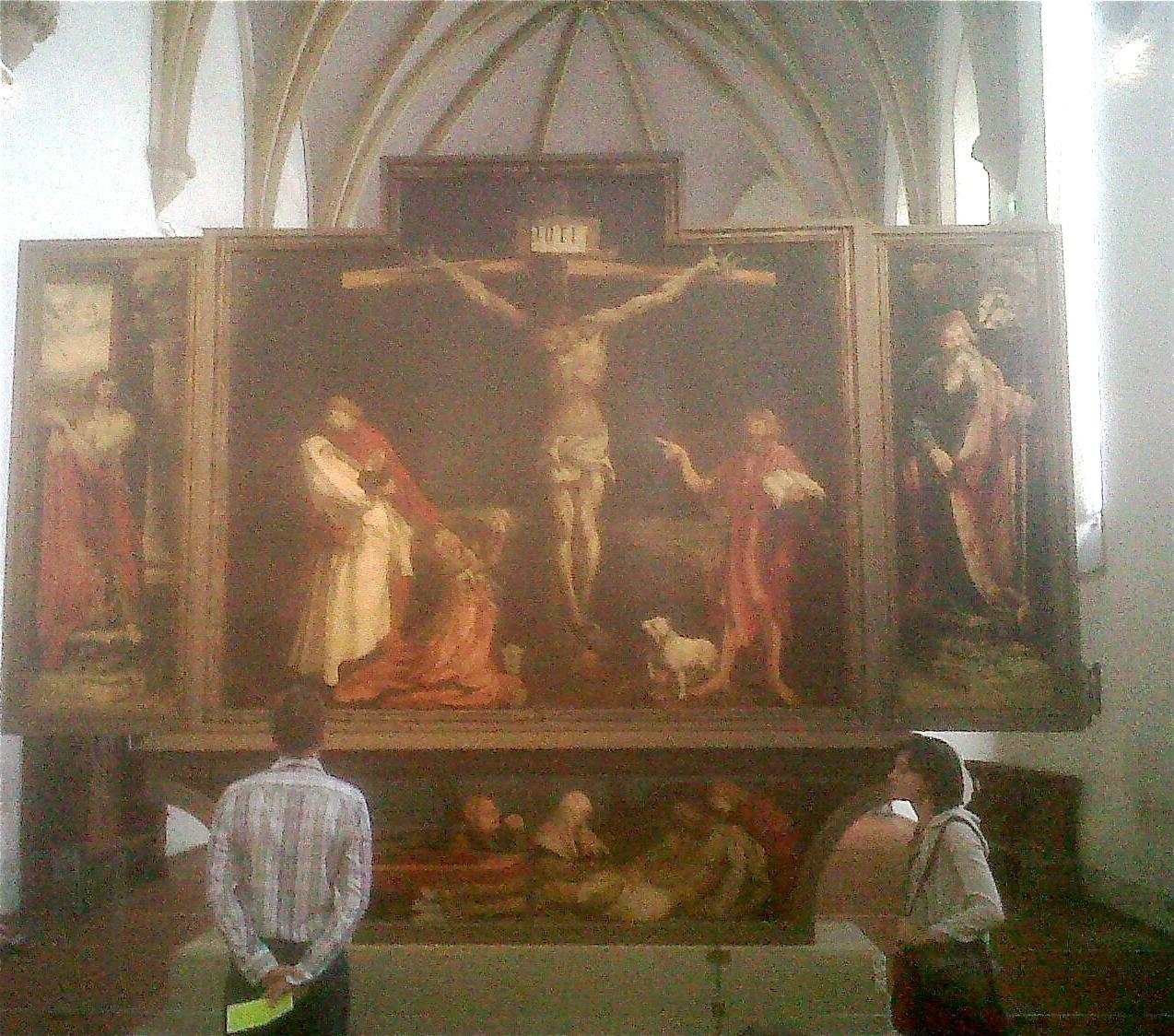 Regan O'Callaghan altar, Gruenwald, Jesus, Colmar